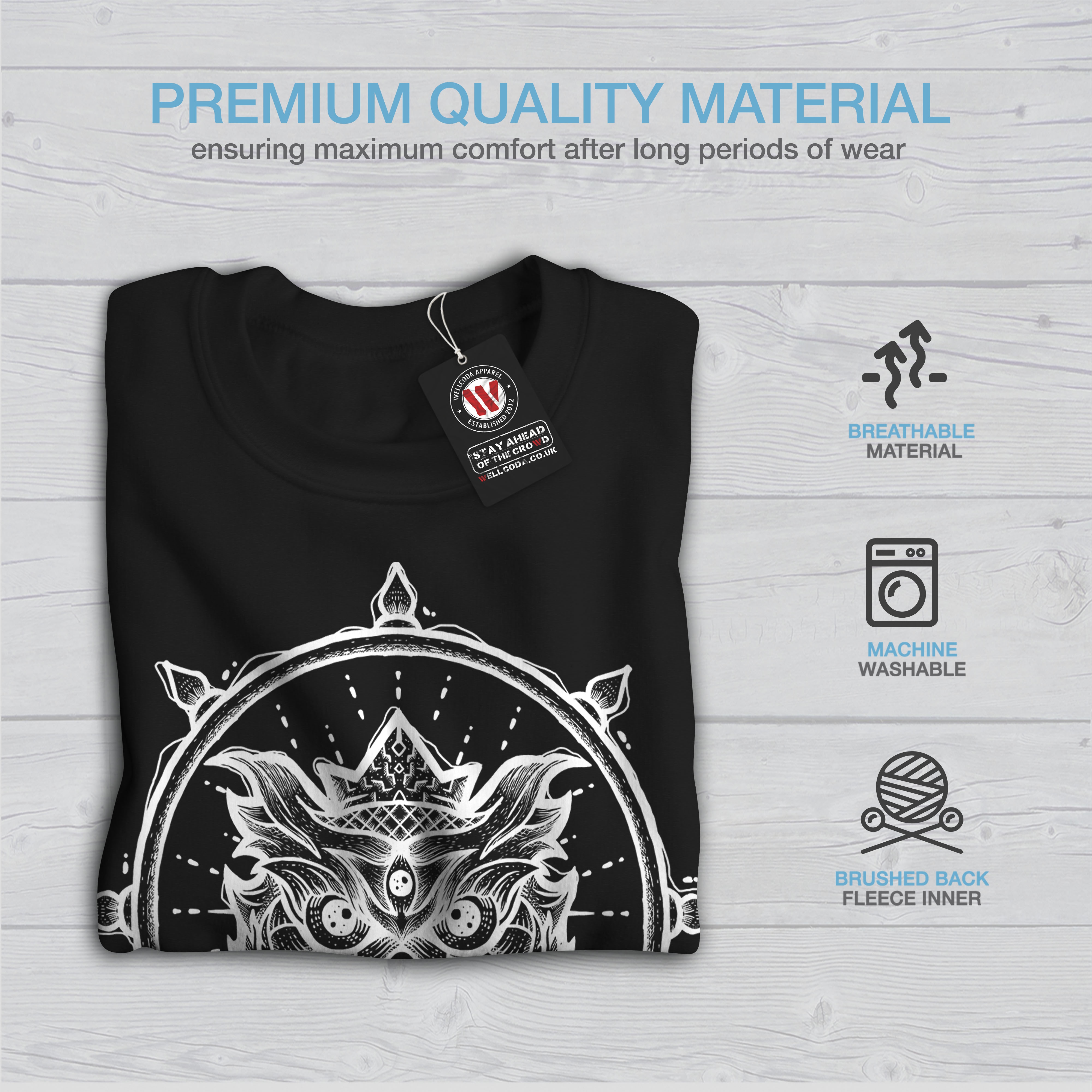 Sweatshirt Spiritual Owl Men New Black Fashion xvwSO0U