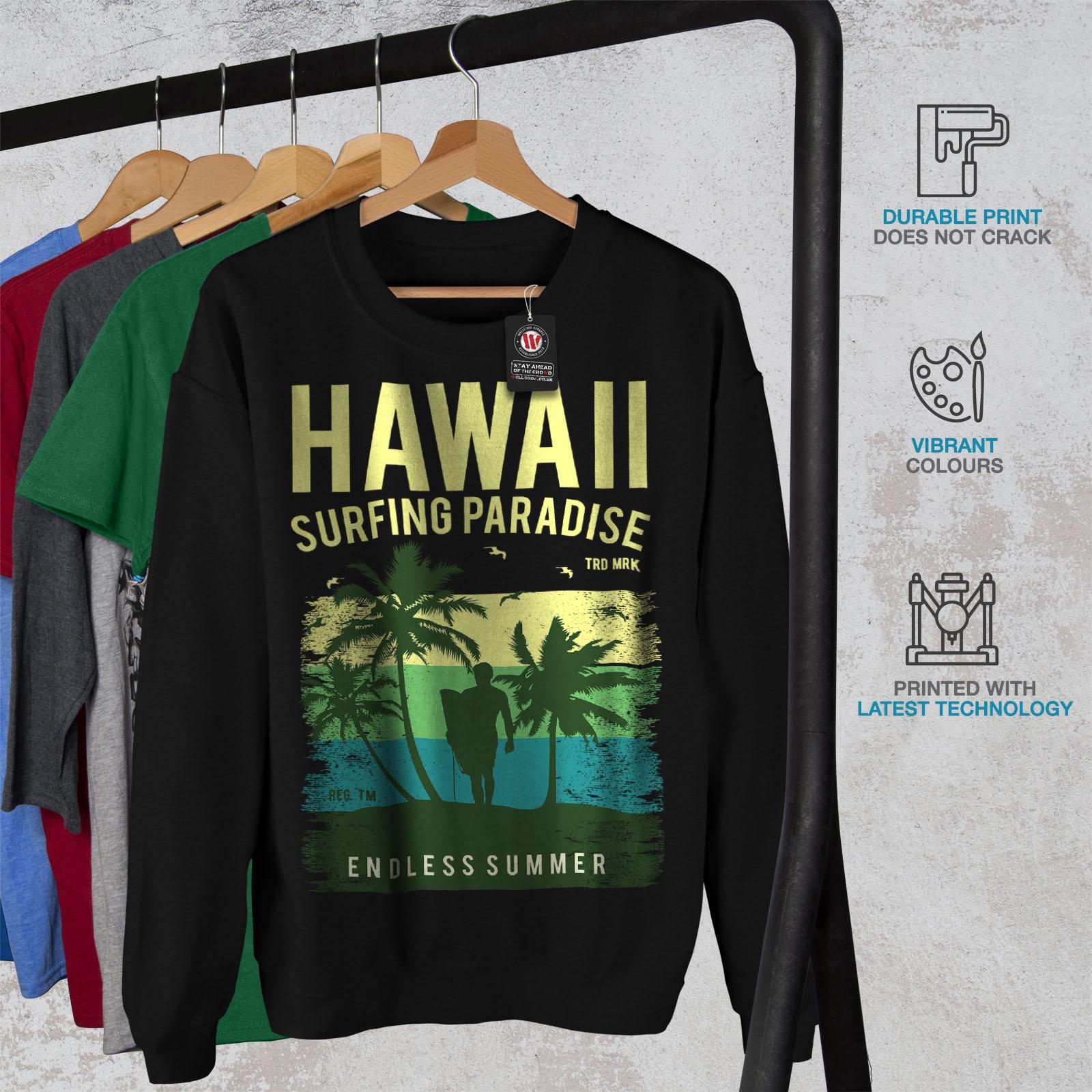 Black Pullover Sweatshirt Mens Wellcoda Summer Jumper Casual Fanqg