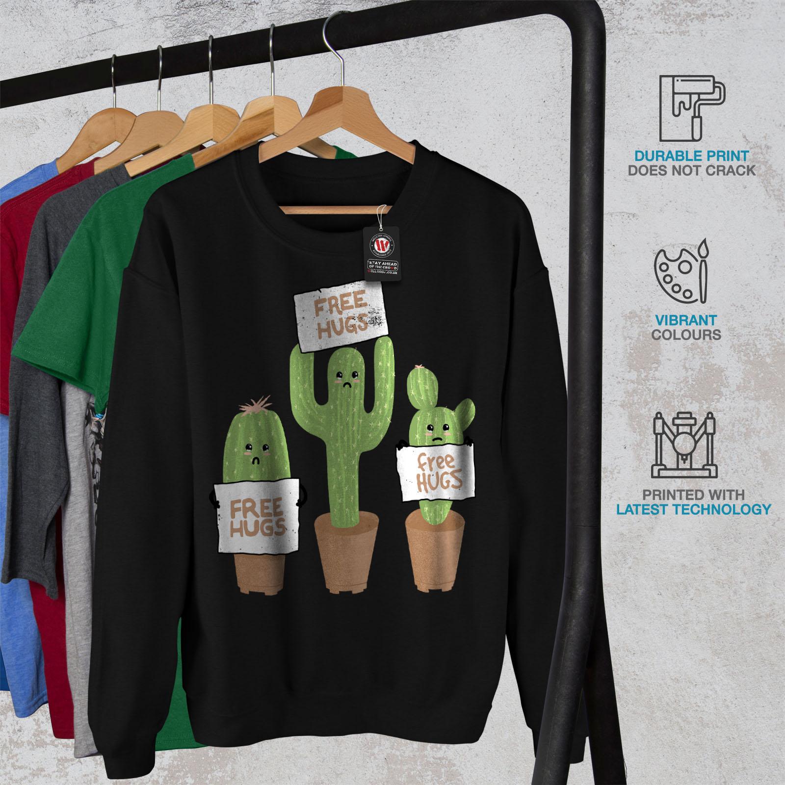 Casual Spiky Fun Mens Sweatshirt Pullover Black Jumper Wellcoda wtqIEfx6w