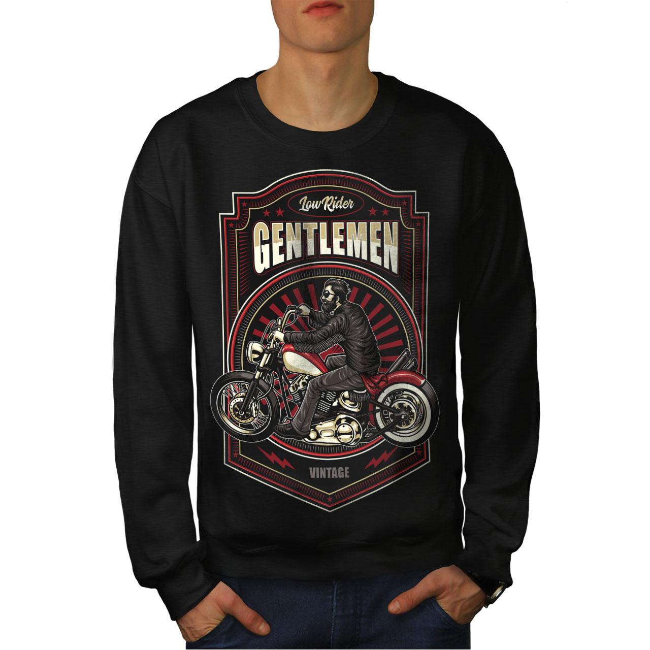 Pullover Jumper wellcoda Space Biker Night Fashion Womens Sweatshirt