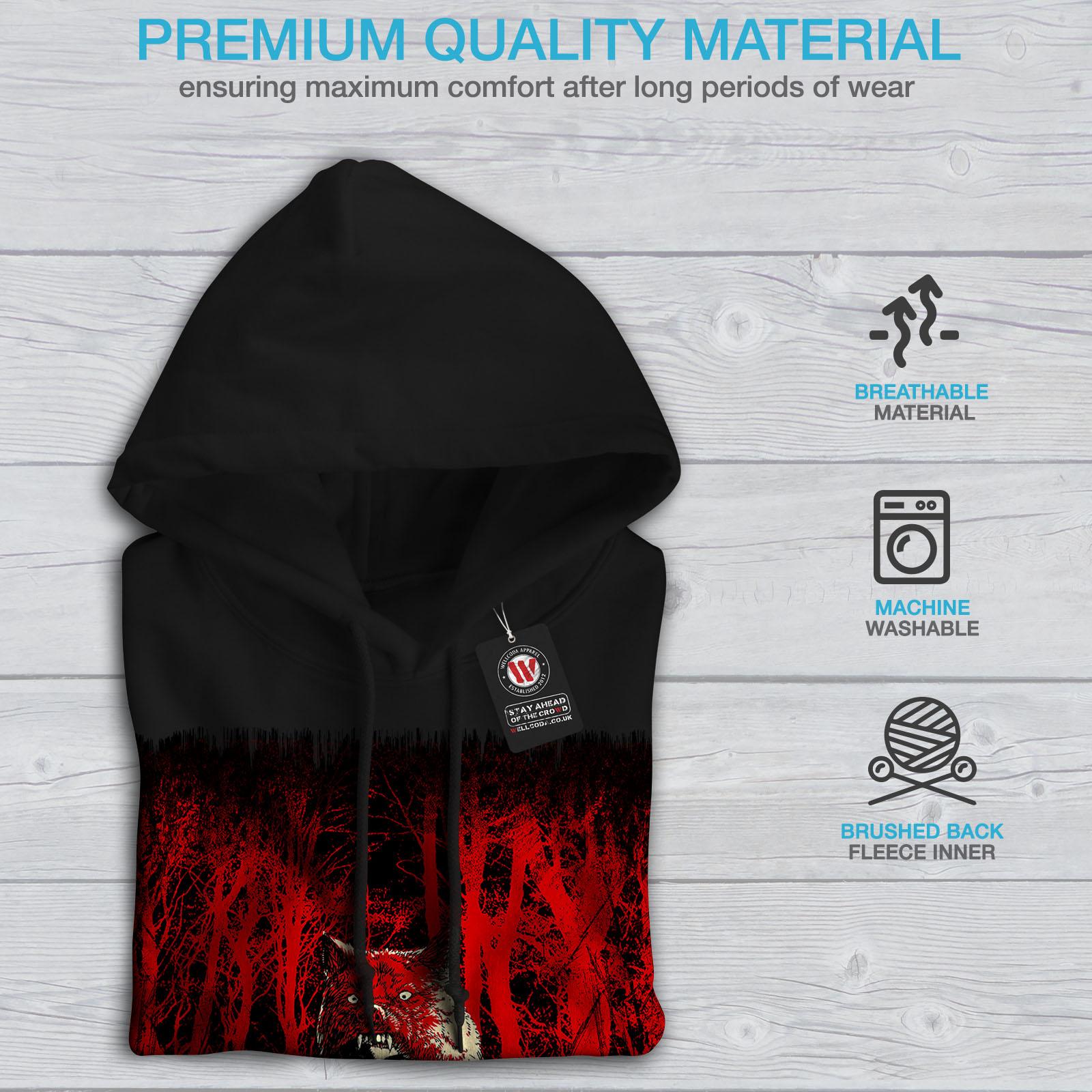 New Wellcoda Scary Black Sweatshirt Casual Hoodie Mens Hooded HnPxqwBTv