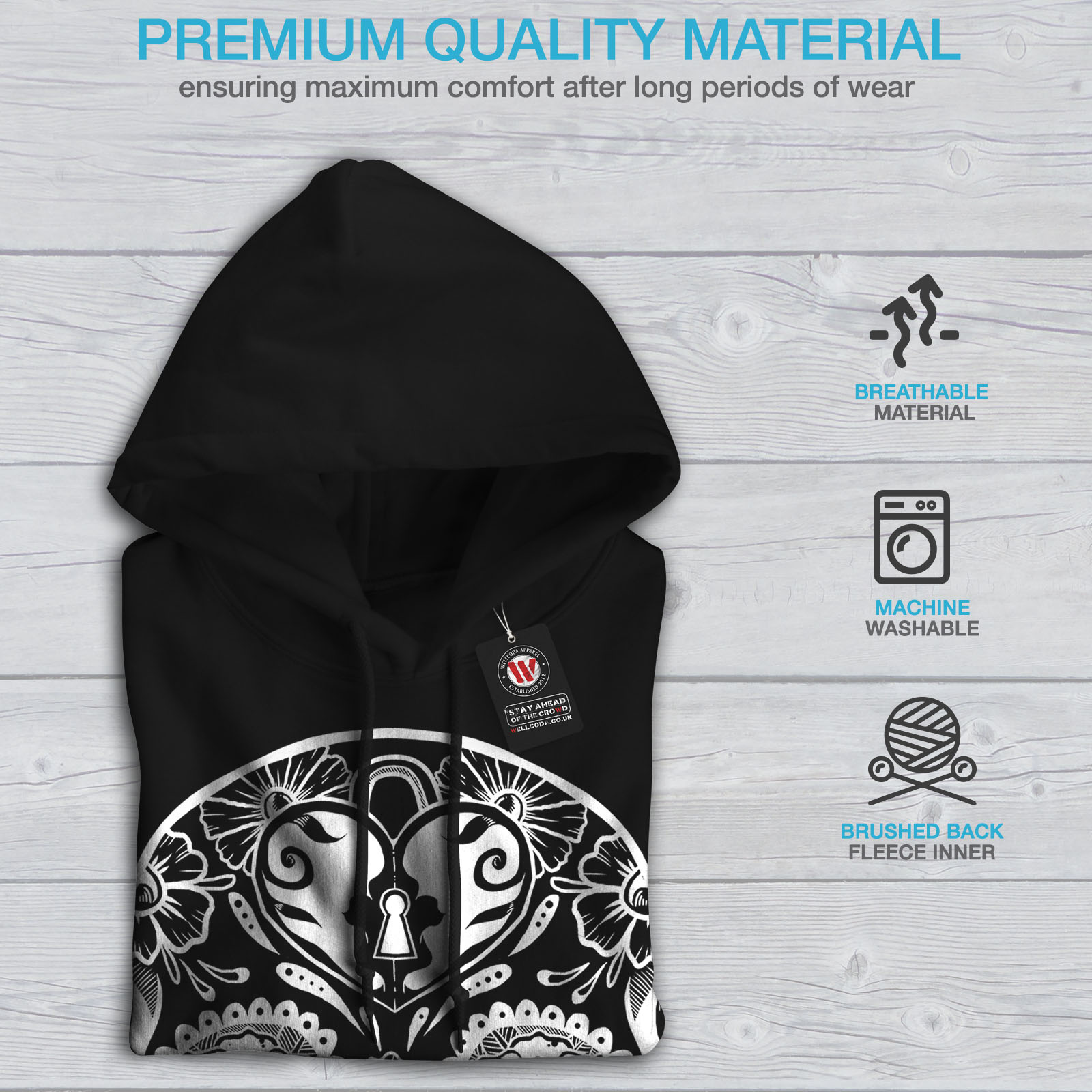 Wellcoda New Mens Hoodie Aztec Casual Hooded Sweatshirt