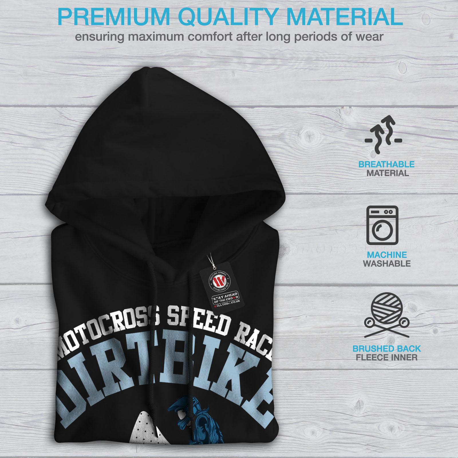 Mens Hooded Black Hoodie Sweatshirt Wellcoda Casual New 5O05qf