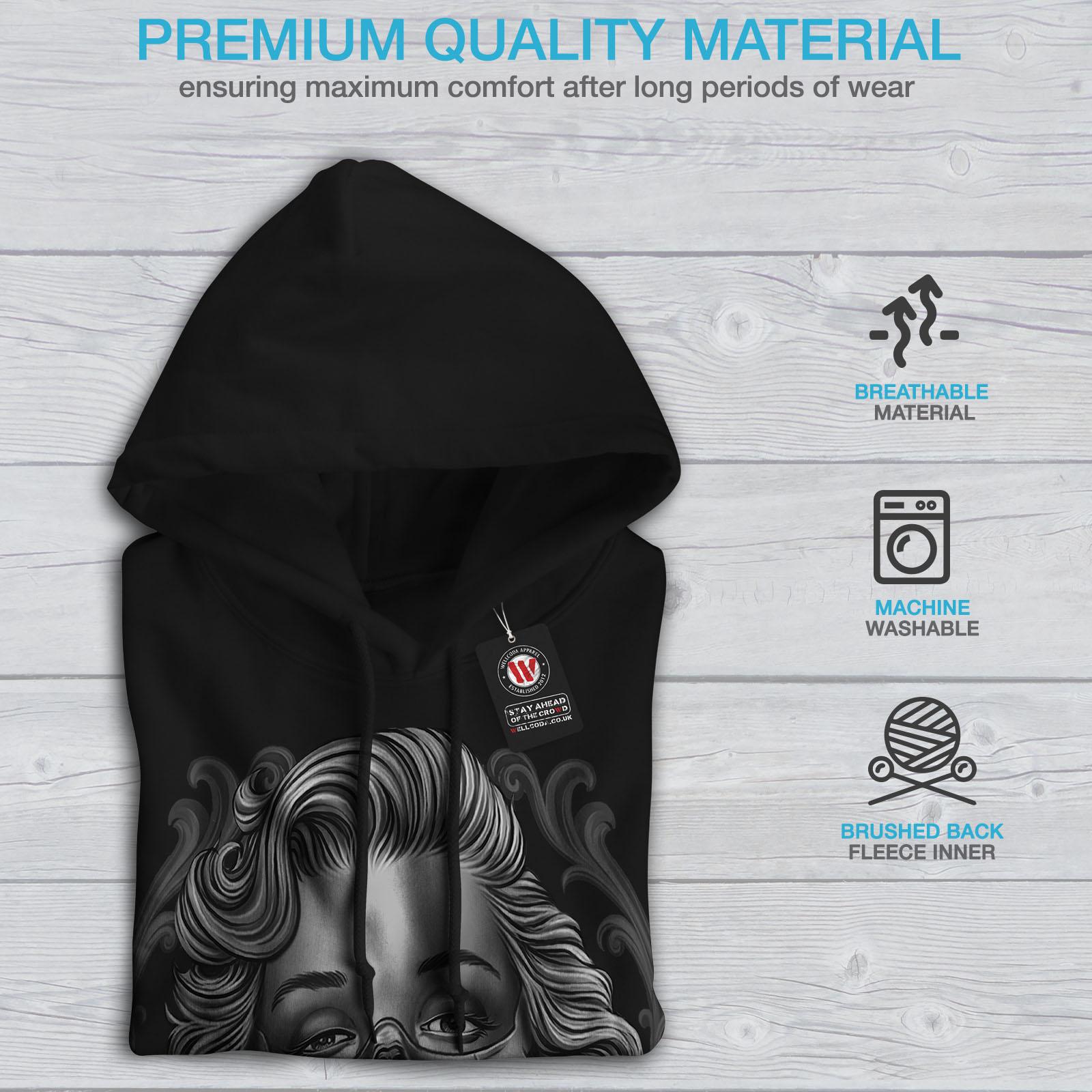 Casual Mens Black Hoodie New Hooded Wellcoda Sweatshirt 5qx7tSw5W