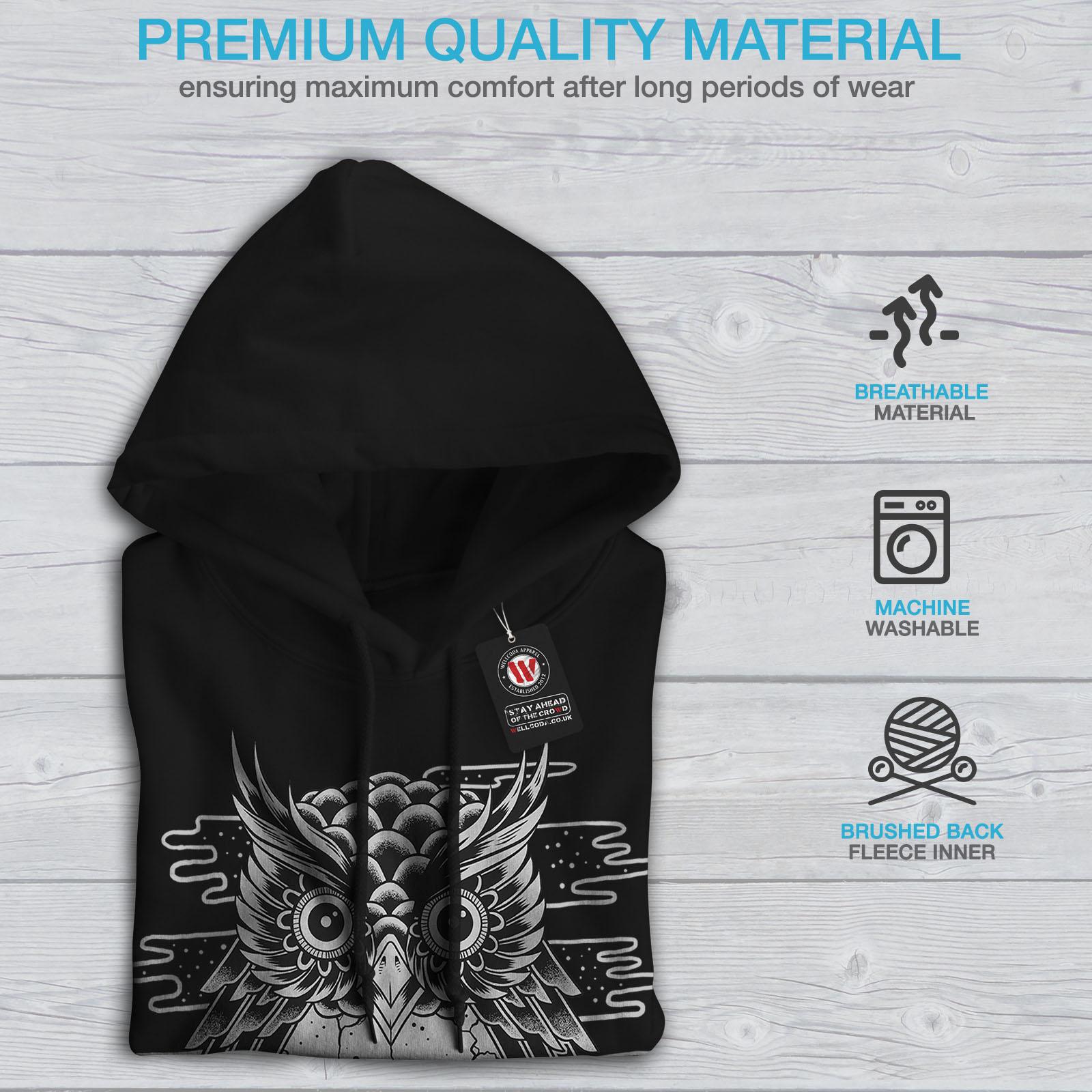 Casual Hoodie Black Wellcoda Hooded Sweatshirt New Mens 07wx6A
