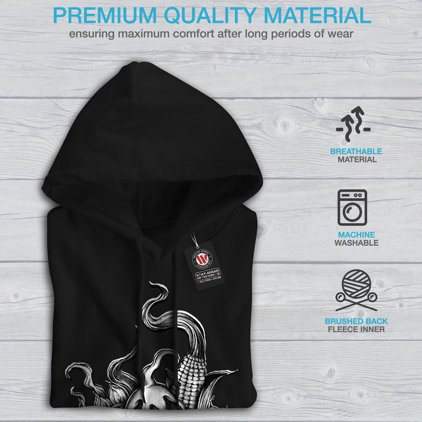 Wellcoda Black Hoodie Mens Hooded Casual New Sweatshirt rqSOrwBZ1
