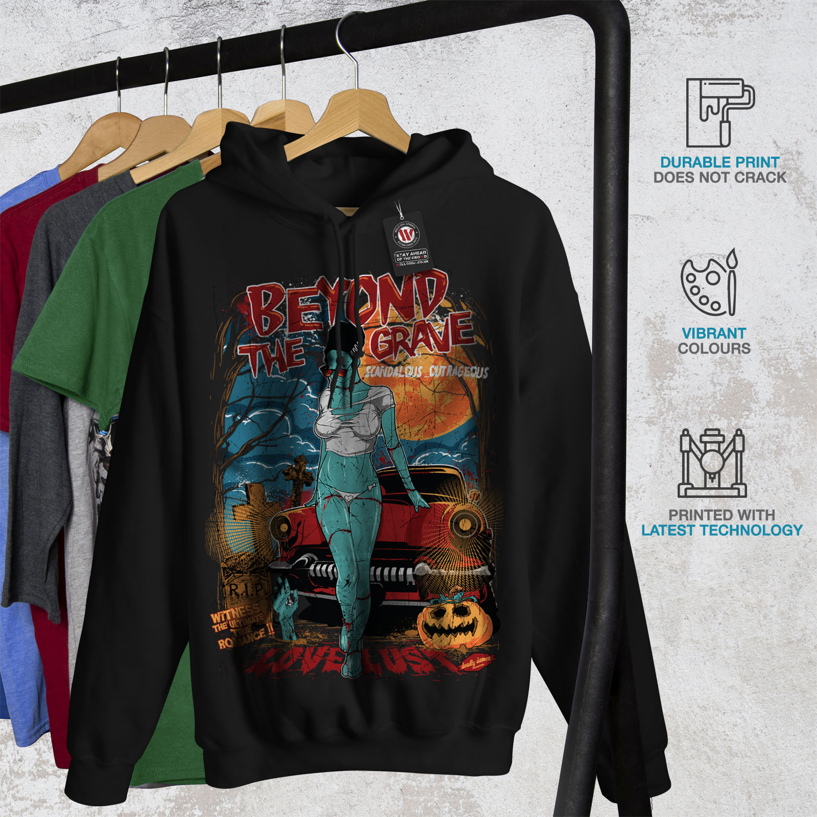 Casual Wellcoda Black New Sweatshirt Mens Hoodie Love Hooded 0rIwPrxq
