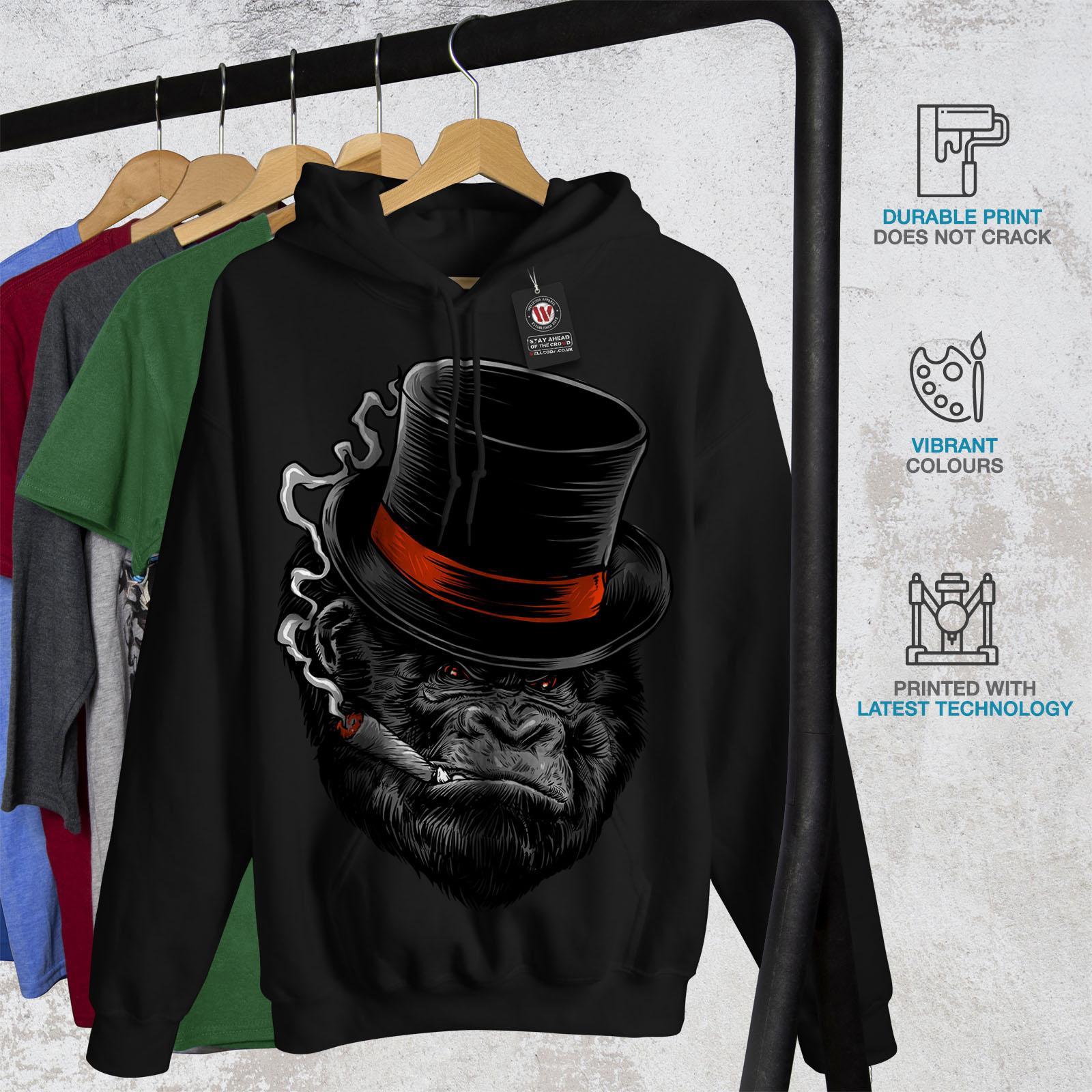 Ape Casual Hooded Sweatshirt Wellcoda Monkey Mafia Smoke Mens Hoodie