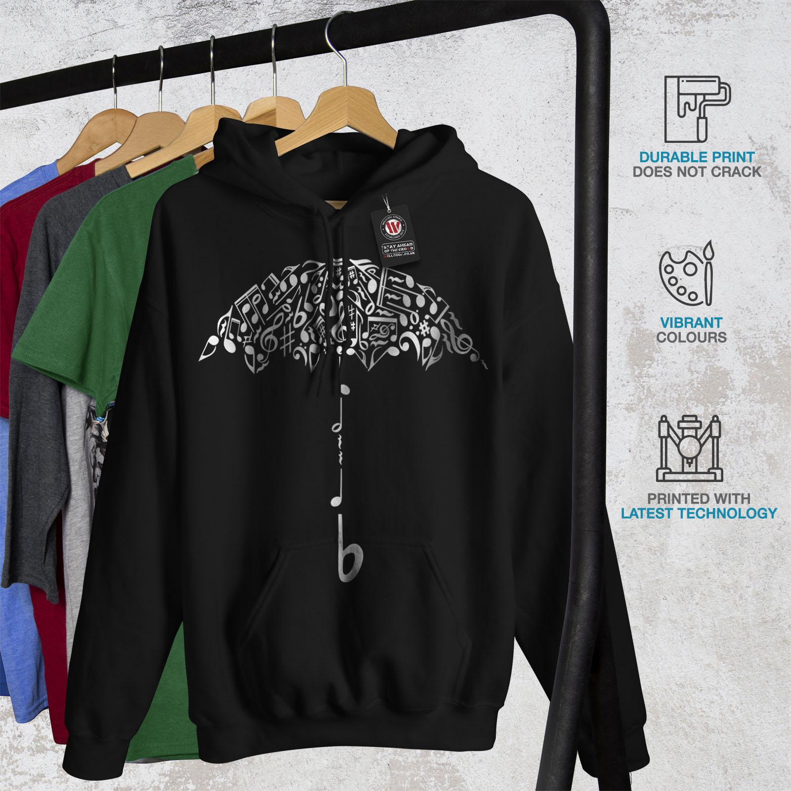Hooded New Mens Black Casual Sweatshirt Wellcoda Hoodie 07IIp