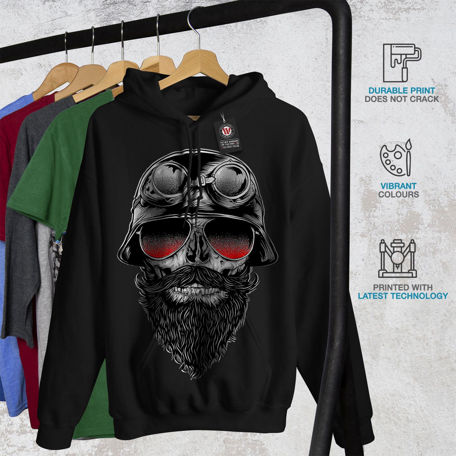 Wellcoda New Mens Hoodie New Casual Hooded Sweatshirt