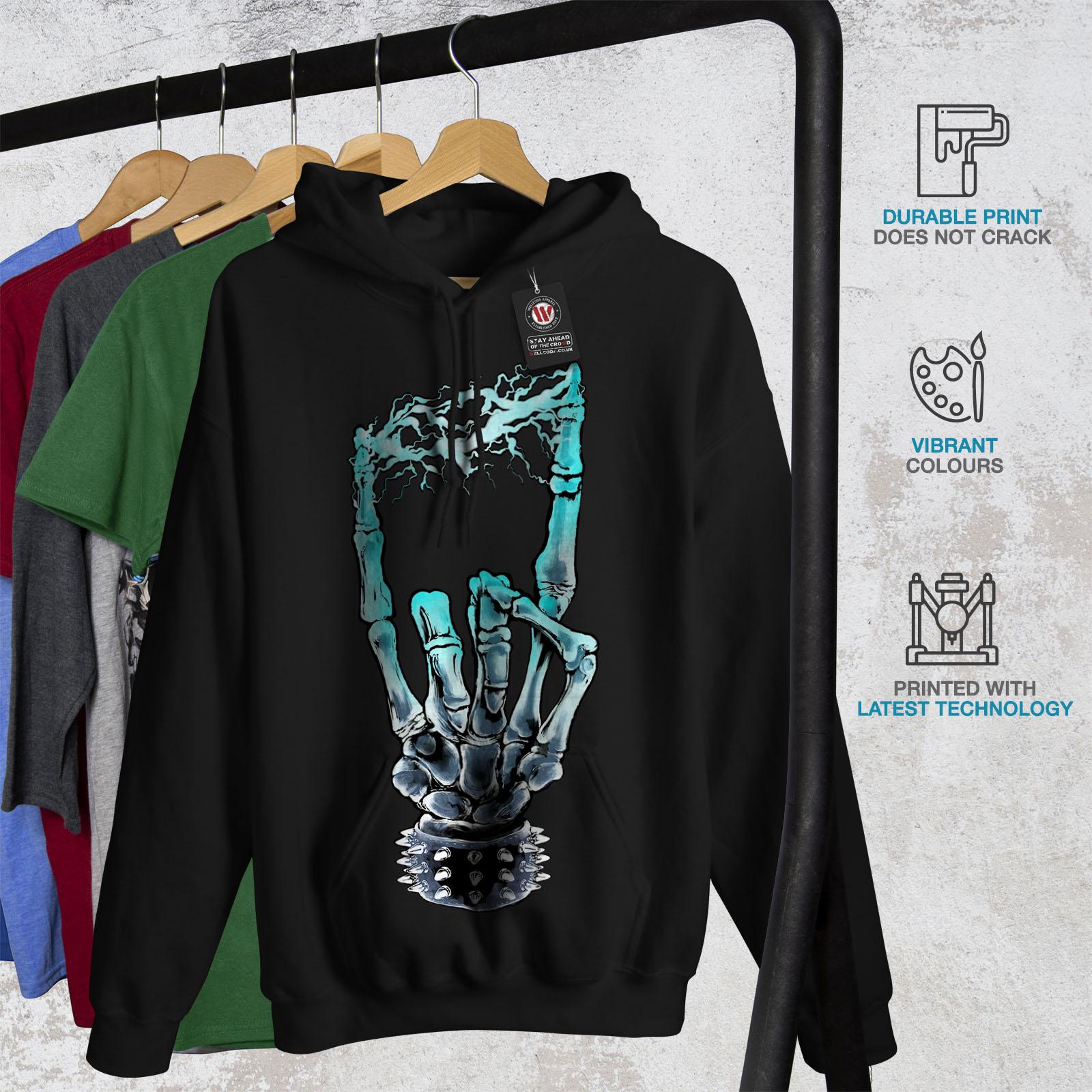 New Mens Sweatshirt Wellcoda Black Hoodie Casual Hooded 0ZxcRq6