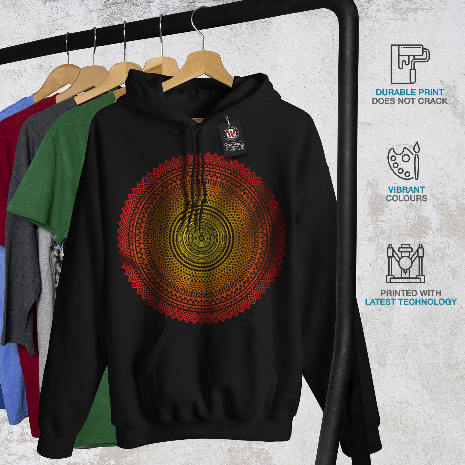 New Mens Wellcoda Graphic Negro Hooded Hoodie Sweatshirt fqgdC