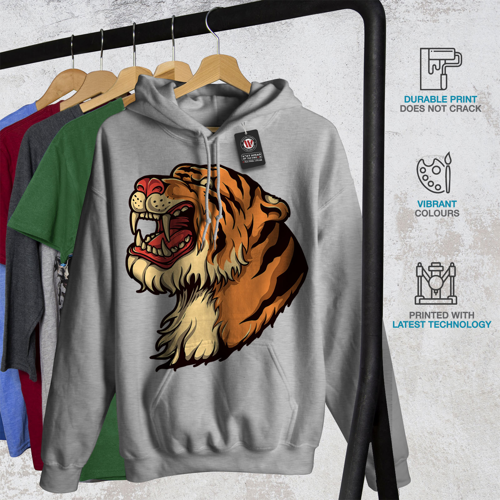 Wellcoda-New-Mens-Hoodie-Cartoon-Animal-Casual-Hooded-Sweatshirt
