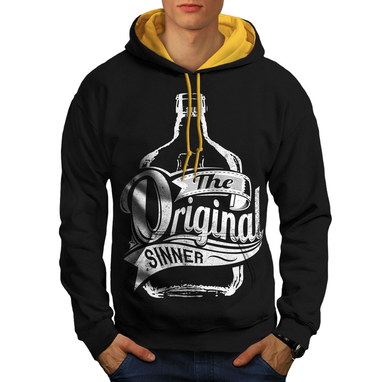 wellcoda Unique Sinner Funny Mens Sweatshirt Rum Casual Jumper