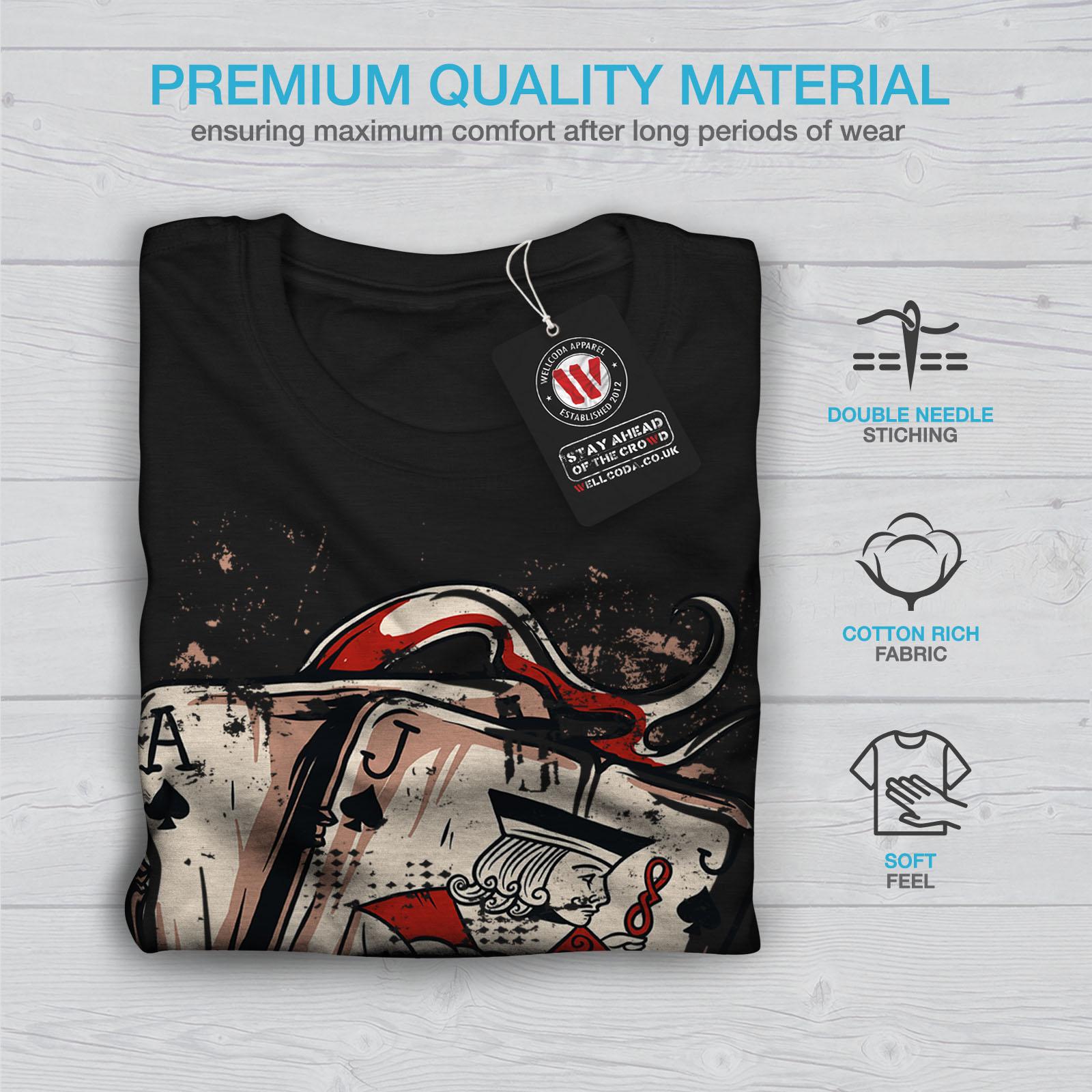 Wellcoda Ace JACK OF SPADES Femme T-Shirt col V Carte Graphique Design Tee