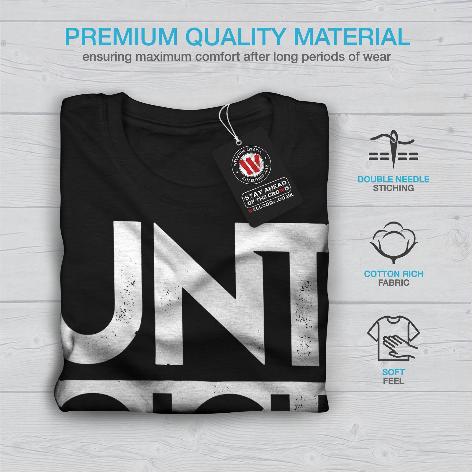 Wellcoda Untouchable Text Slogan Mens T-shirt Funny Graphic Design Printed Tee
