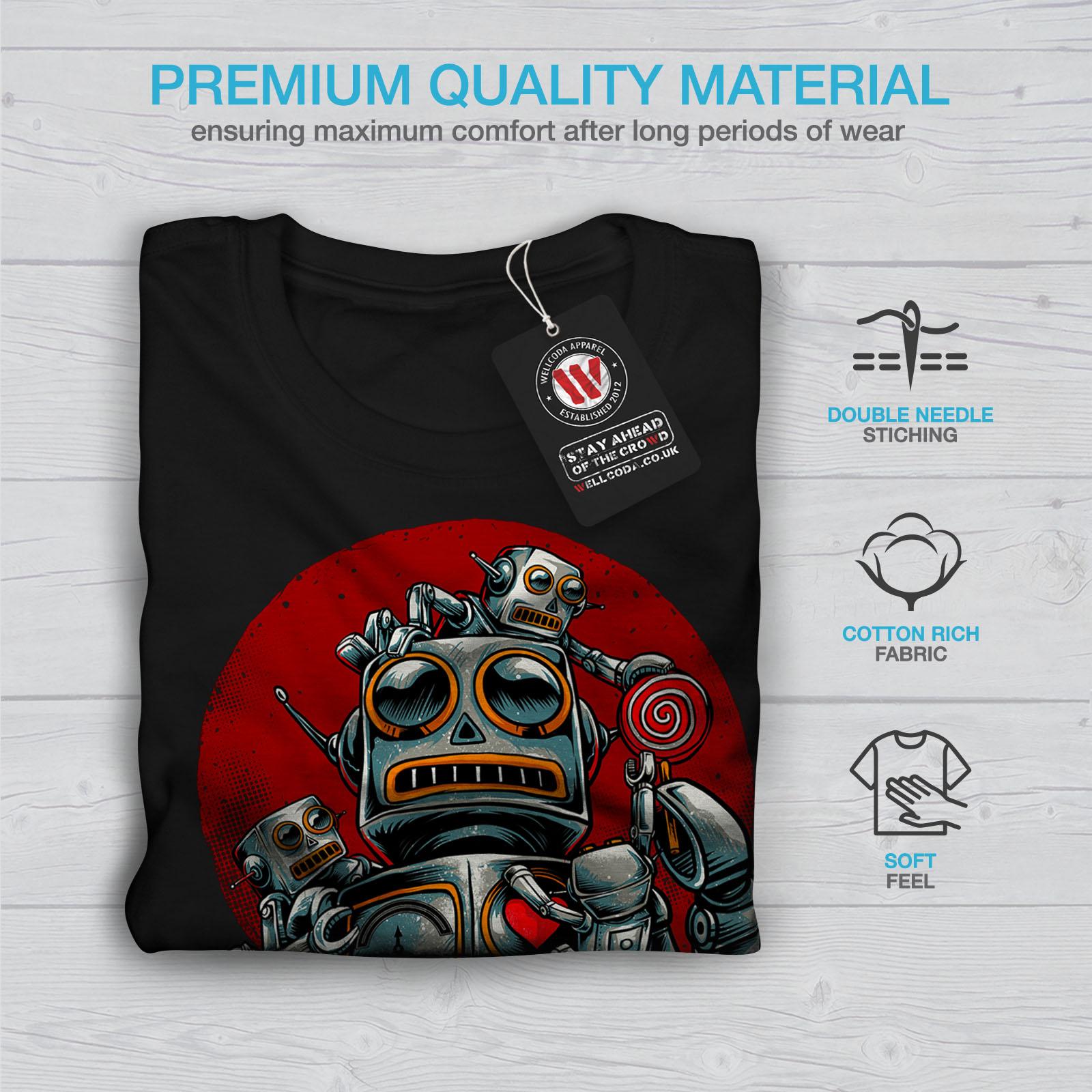 miniature 7 - Wellcoda Crazy Robot Mens T-shirt, Mechanical Graphic Design Printed Tee