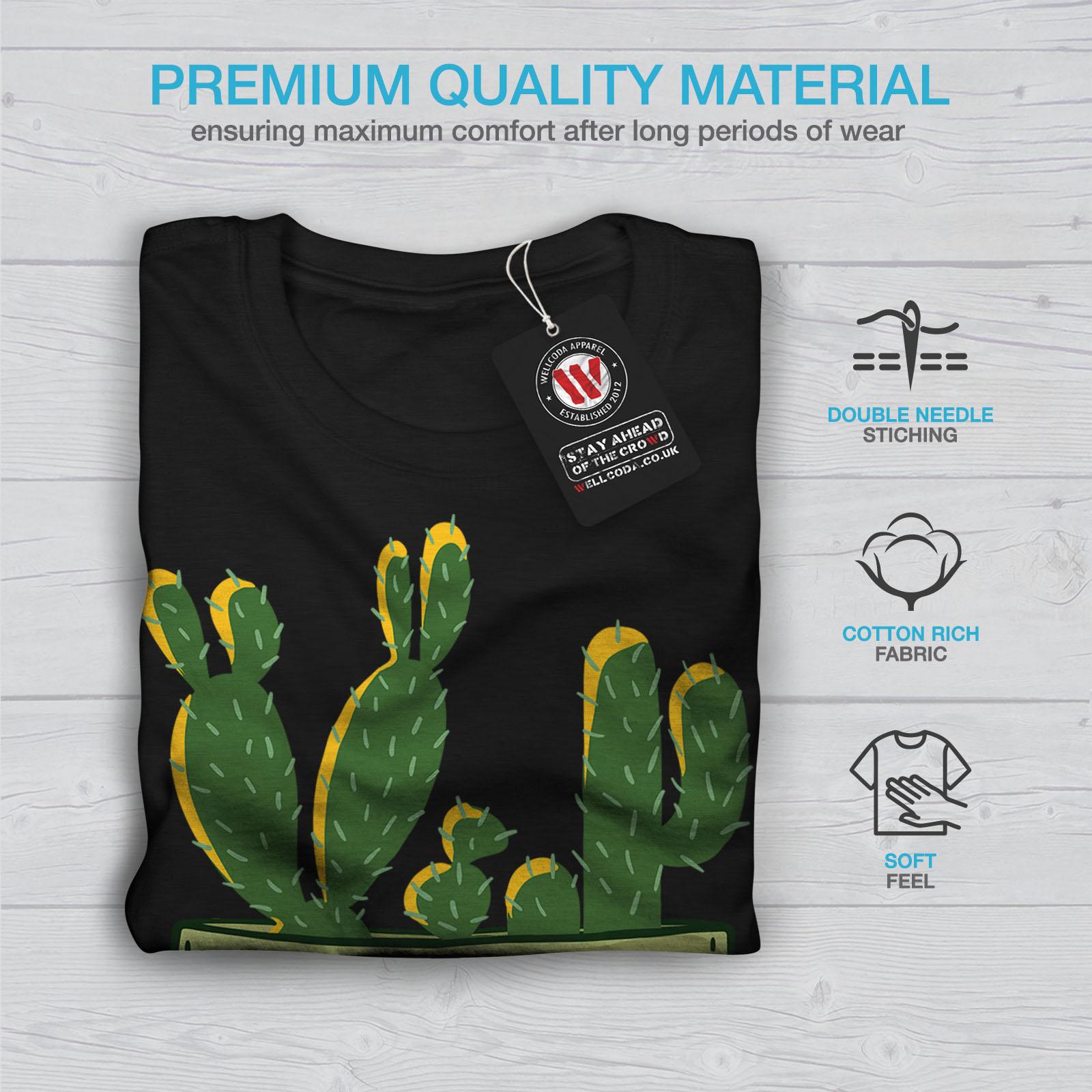 miniature 7 - Wellcoda Hug Me Cactus Funny Mens T-shirt,  Graphic Design Printed Tee