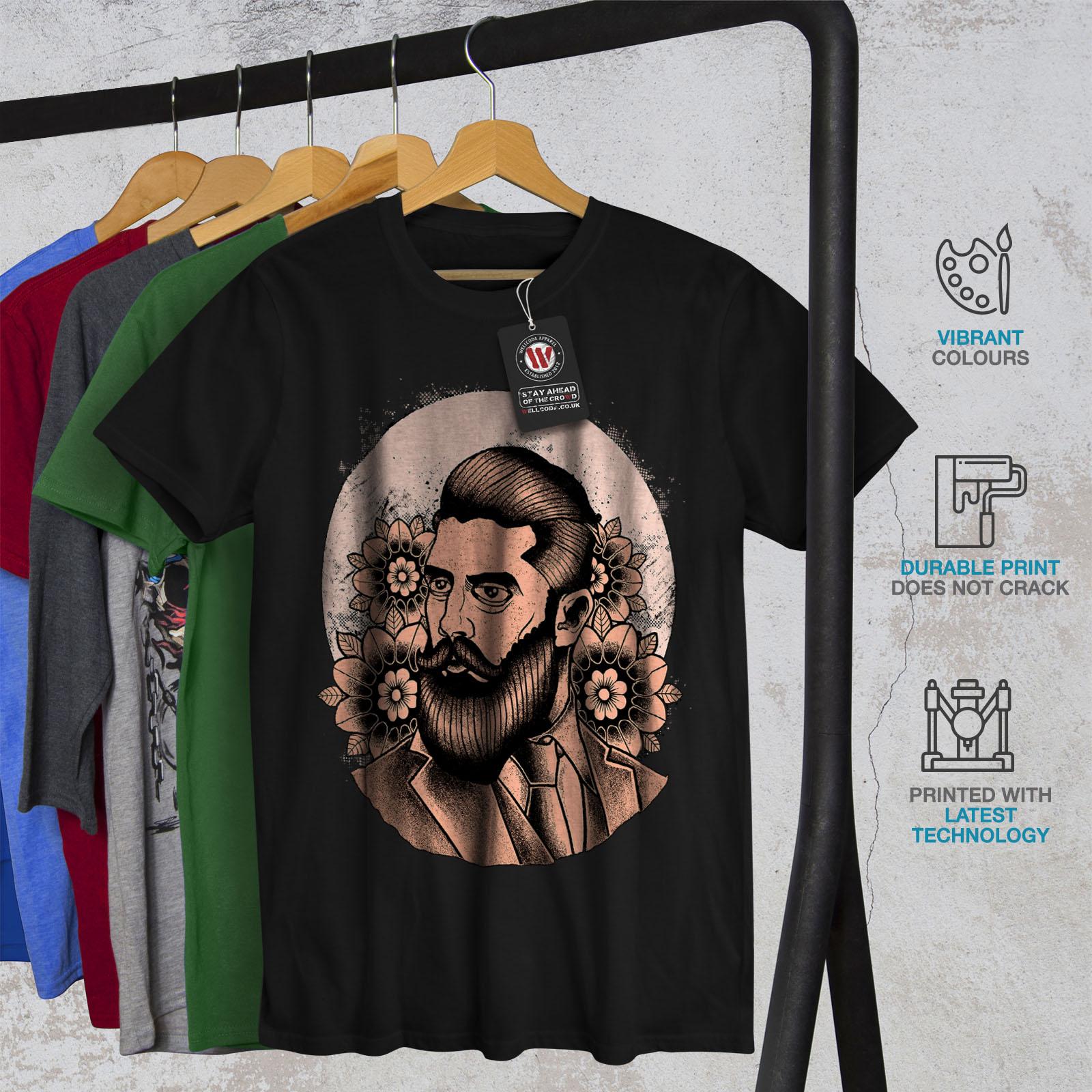 Wellcoda-Beard-Hipster-Mens-T-shirt-Grooming-Graphic-Design-Printed-Tee