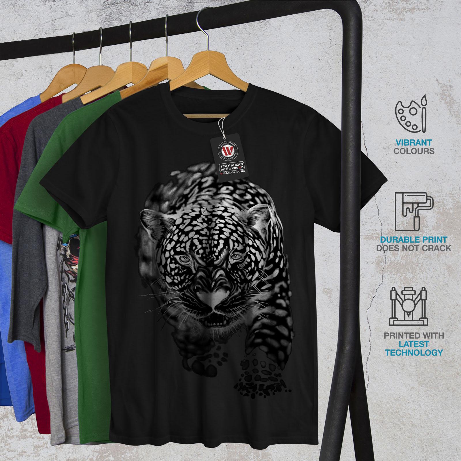 Wellcoda-Cougar-Puma-asesino-para-hombre-Camiseta-Gato-Camiseta-Impresa-Diseno-Grafico