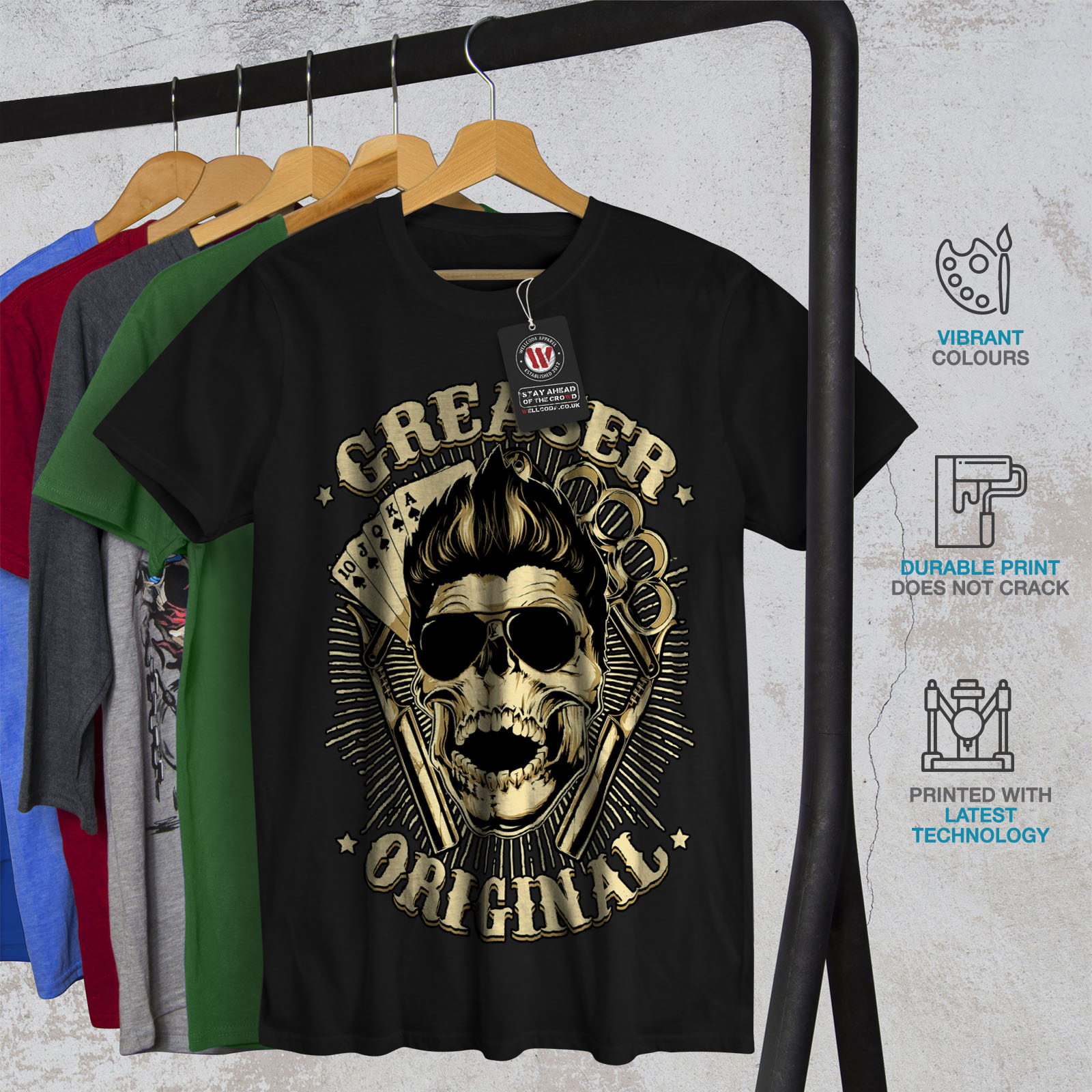 011e32f4f Wellcoda Grease Original Card Mens T-shirt, Casino Graphic Design ...
