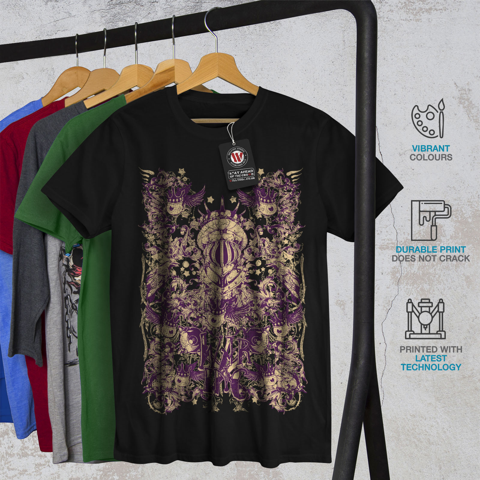 Wellcoda-War-Inc-Zombie-Mens-T-shirt-Monster-Graphic-Design-Printed-Tee thumbnail 6