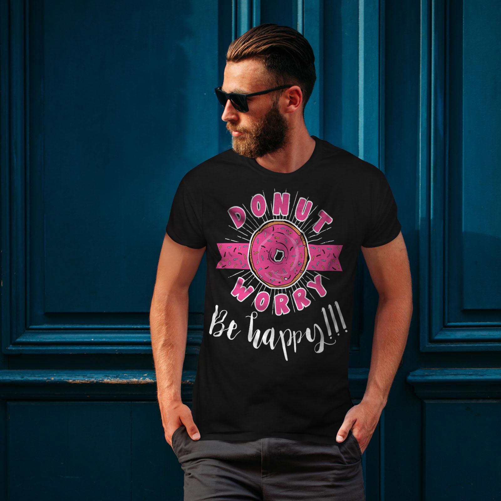Graphic Design Printed Tee Wellcoda Donut Worry Pun Funny Mens T-shirt