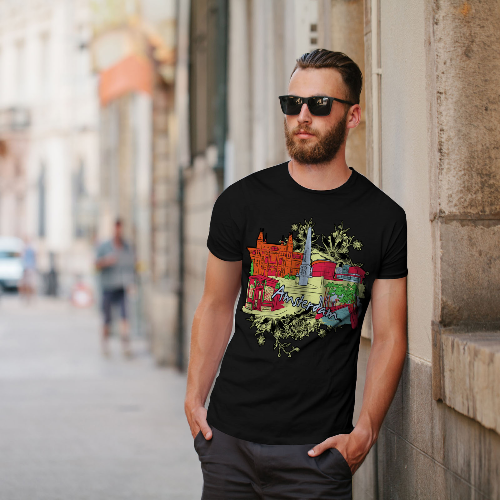 Netherlands Graphic Design Printed Tee Wellcoda 42 Weed Mens T-shirt
