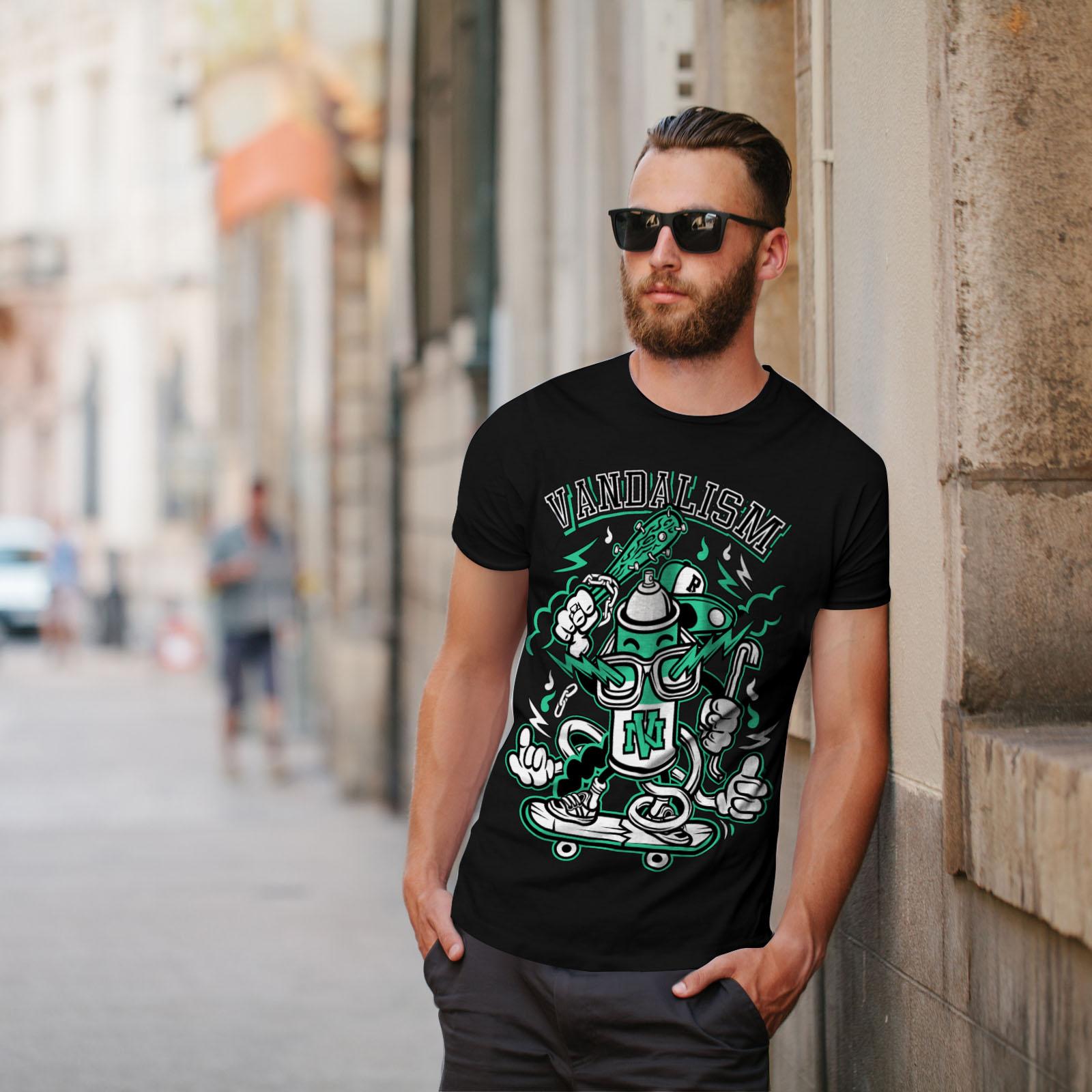 Youth Graphic Design Printed Tee Wellcoda Street Vandalism Mens T-shirt