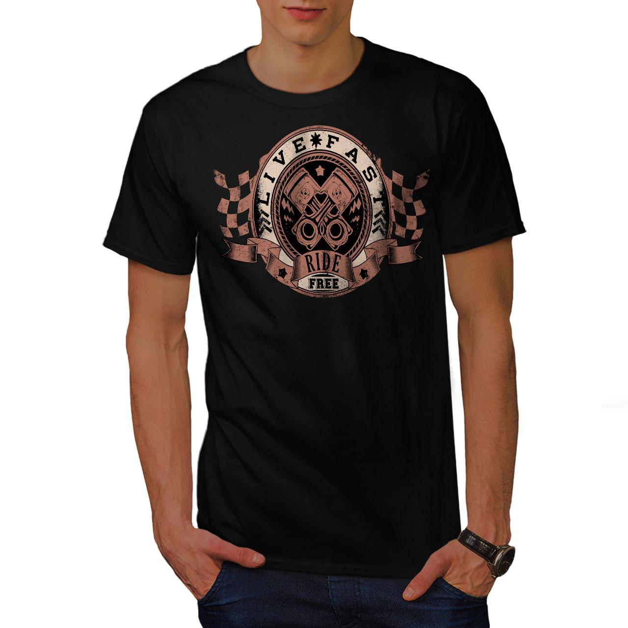 Wellcoda American Pride Motociclista Da Uomo T-shirt BICI design grafico stampato T-shirt