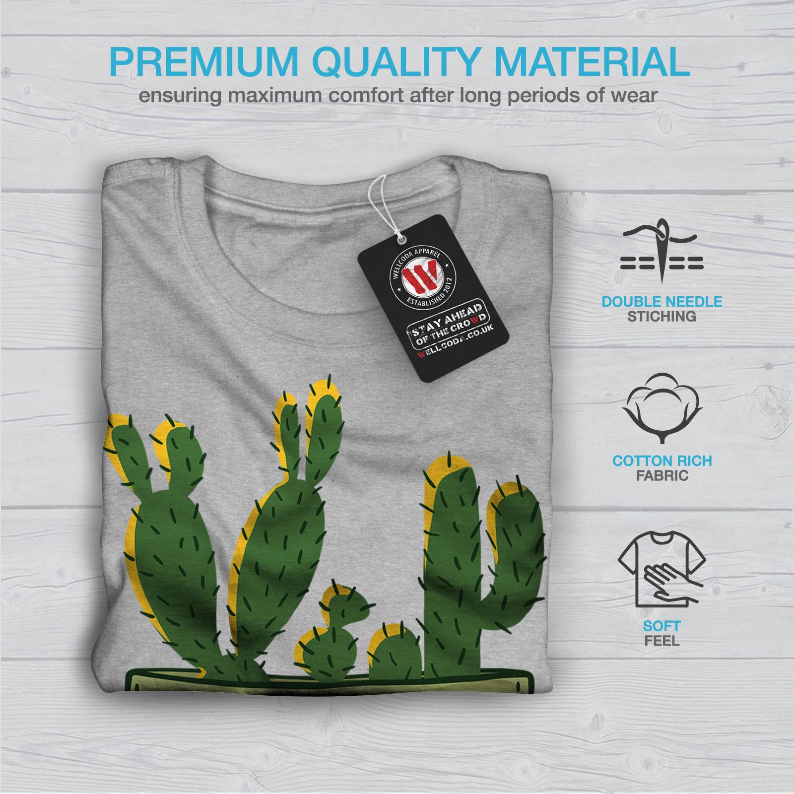 miniature 19 - Wellcoda Hug Me Cactus Funny Mens T-shirt,  Graphic Design Printed Tee