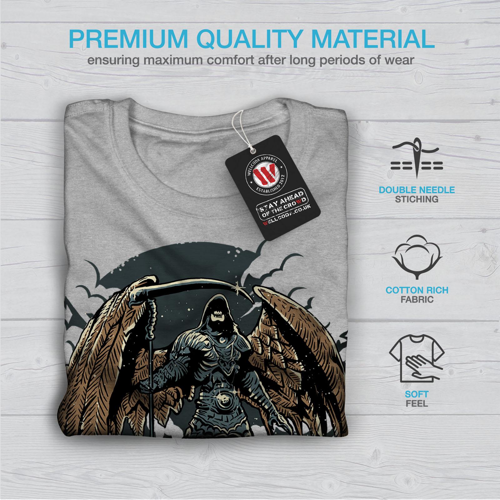 Wellcoda-Evil-Grim-Reaper-Mens-T-shirt-Horror-Graphic-Design-Printed-Tee thumbnail 19