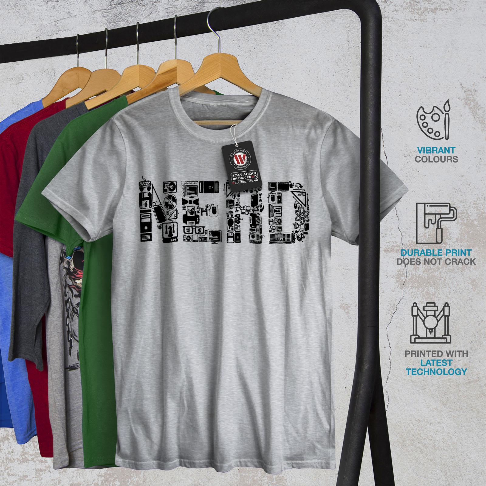 Wellcoda Learn Computer Parts Geek Mens T-shirt Graphic Design Printed Tee
