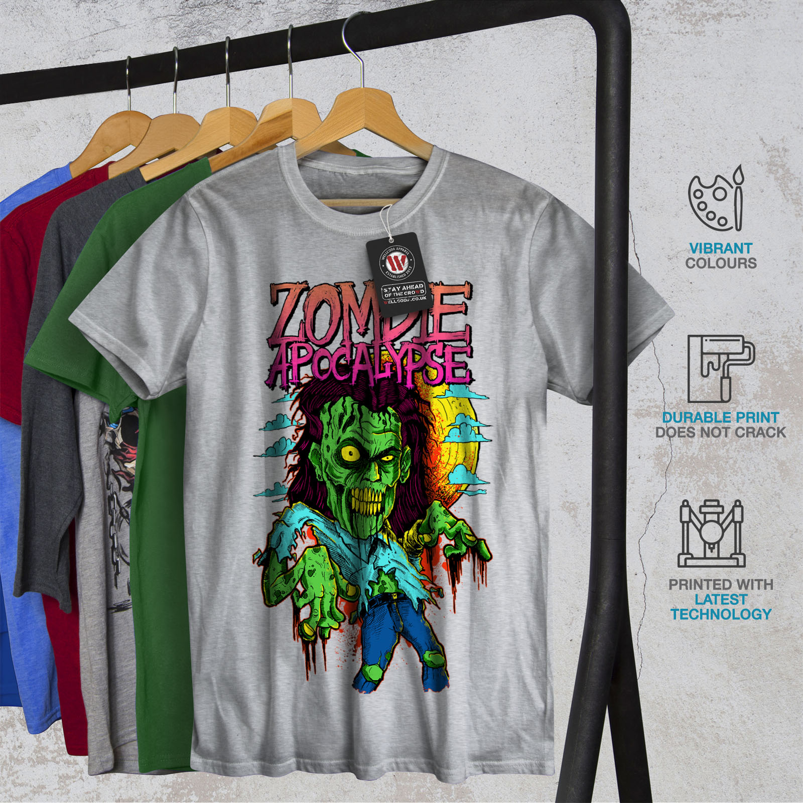 Wellcoda-Zombie-Apocalypse-Horror-Mens-T-shirt-Graphic-Design-Printed-Tee thumbnail 18