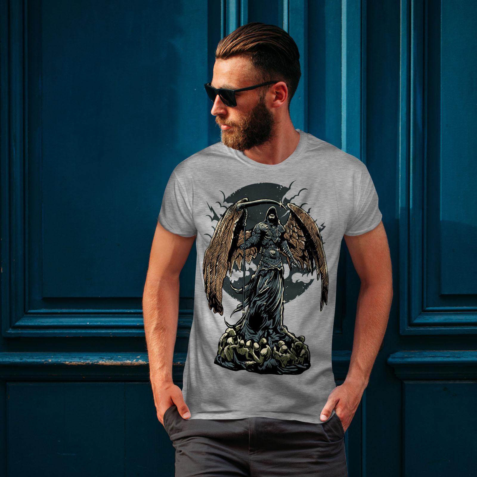 Wellcoda-Evil-Grim-Reaper-Mens-T-shirt-Horror-Graphic-Design-Printed-Tee thumbnail 16