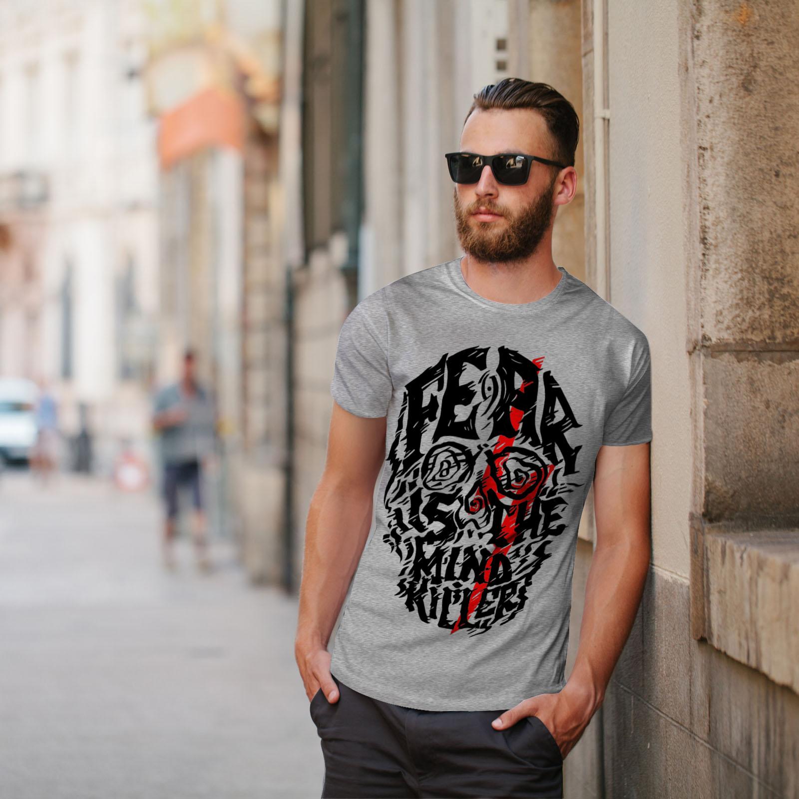 Skeleton Graphic Design Printed Tee Wellcoda Fear Mind Killer Mens T-shirt