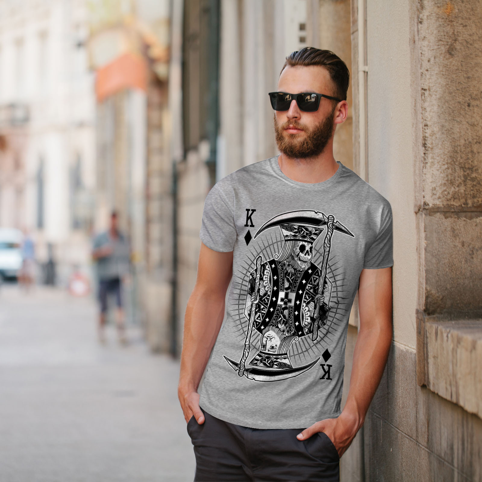 Wellcoda-Poker-Horror-King-Skull-Mens-T-shirt-Graphic-Design-Printed-Tee thumbnail 17