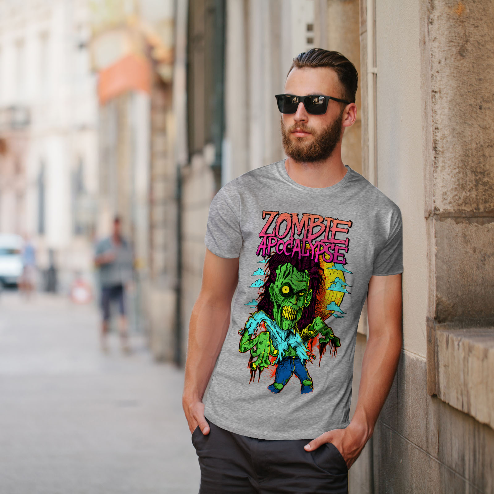 Wellcoda-Zombie-Apocalypse-Horror-Mens-T-shirt-Graphic-Design-Printed-Tee thumbnail 17