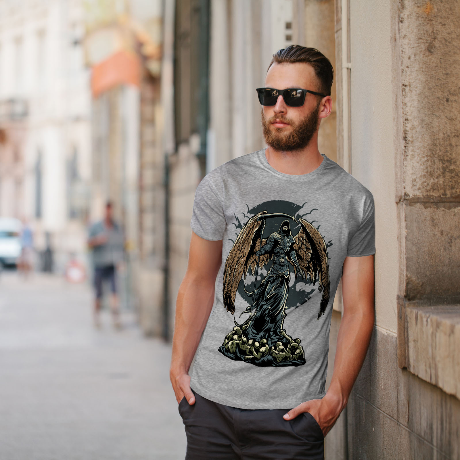 Wellcoda-Evil-Grim-Reaper-Mens-T-shirt-Horror-Graphic-Design-Printed-Tee thumbnail 17