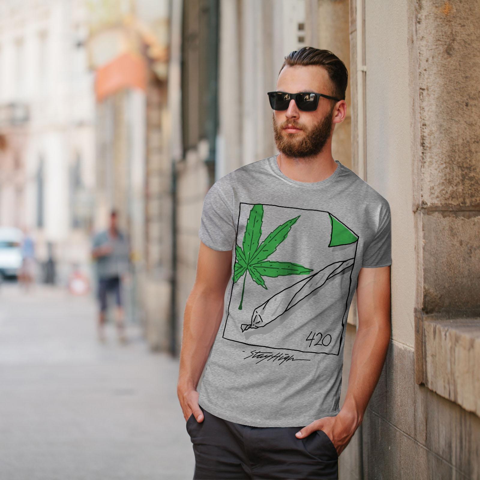 Rast Weed Graphic Design Printed Tee Wellcoda 42 Ganja Joint Mens T-shirt