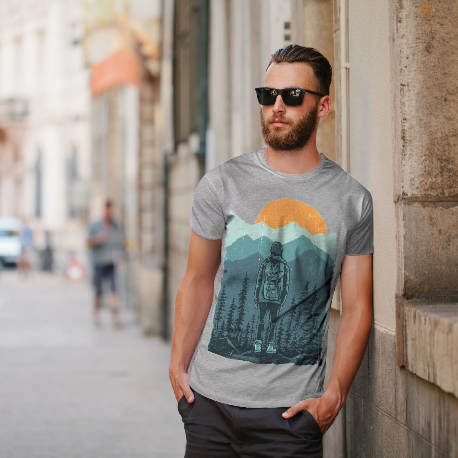 Wellcoda-SUNSET-Wilderness-CAMP-Da-Uomo-T-shirt-Wild-design-grafico-stampato-T-shirt miniatura 17