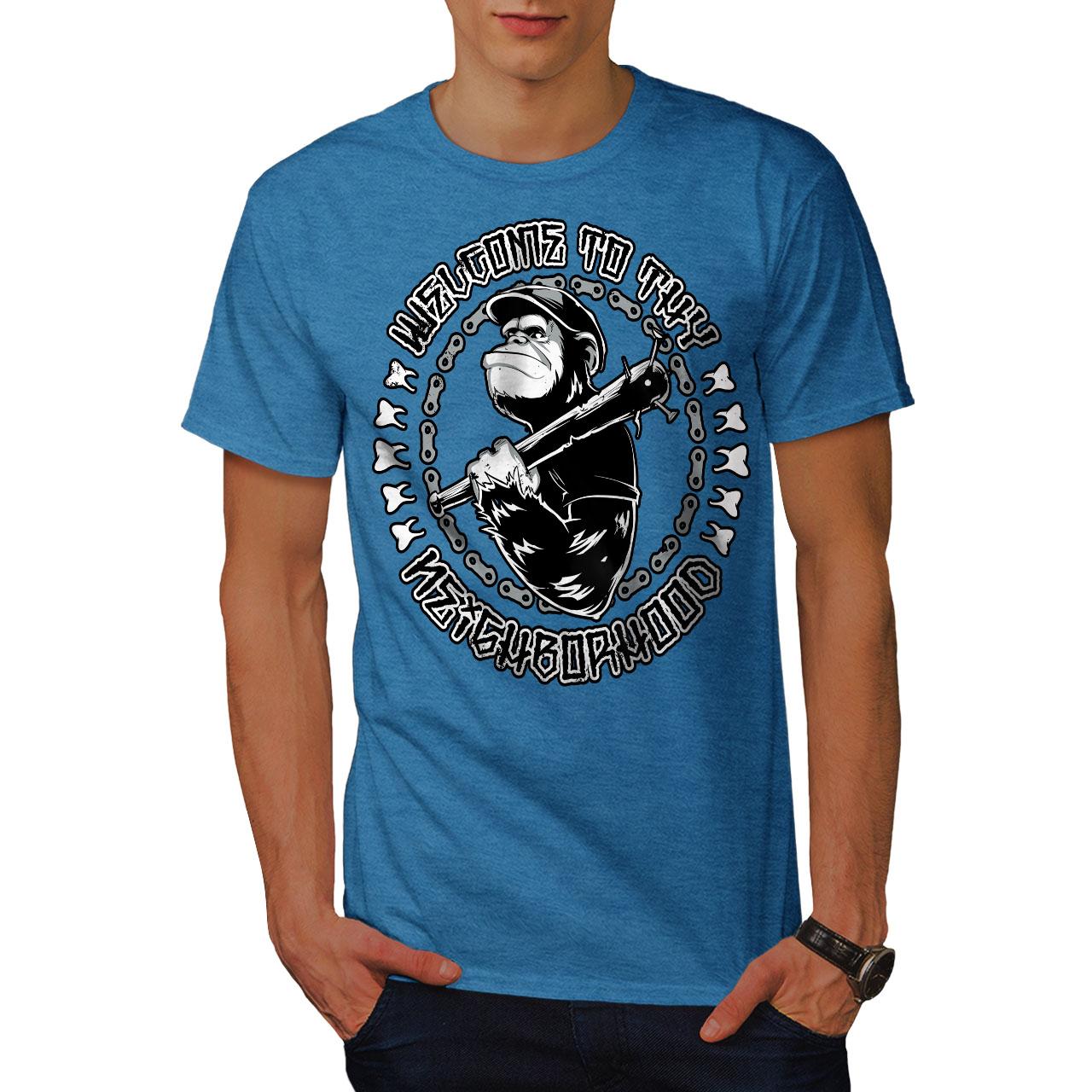 78416abca Wellcoda Welcome Monkey Ape Mens T-shirt, Neighbour Graphic Design ...
