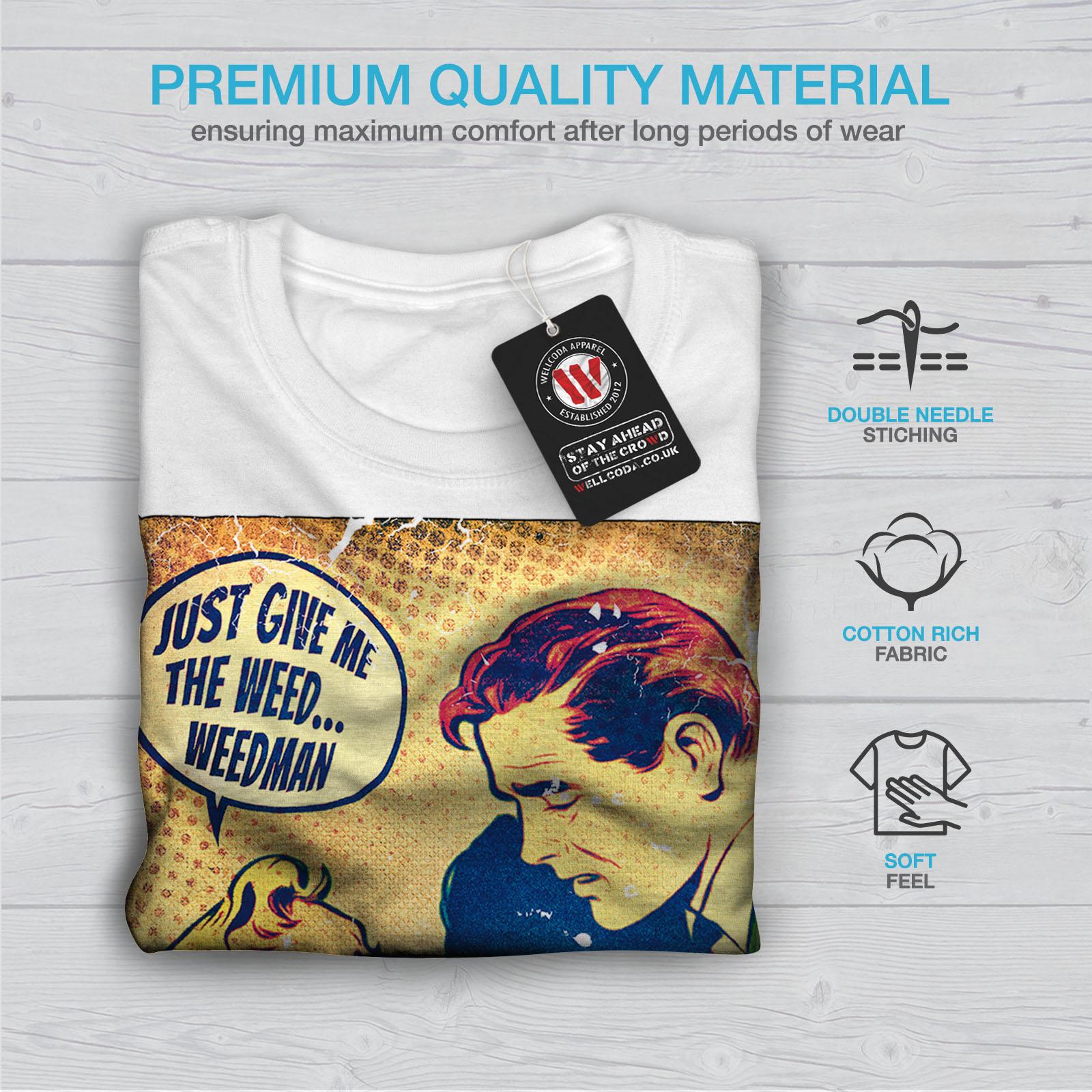 Wellcoda DAMMI L/'ERBA Man Uomo T-shirt FUMETTO design grafico stampato T-shirt
