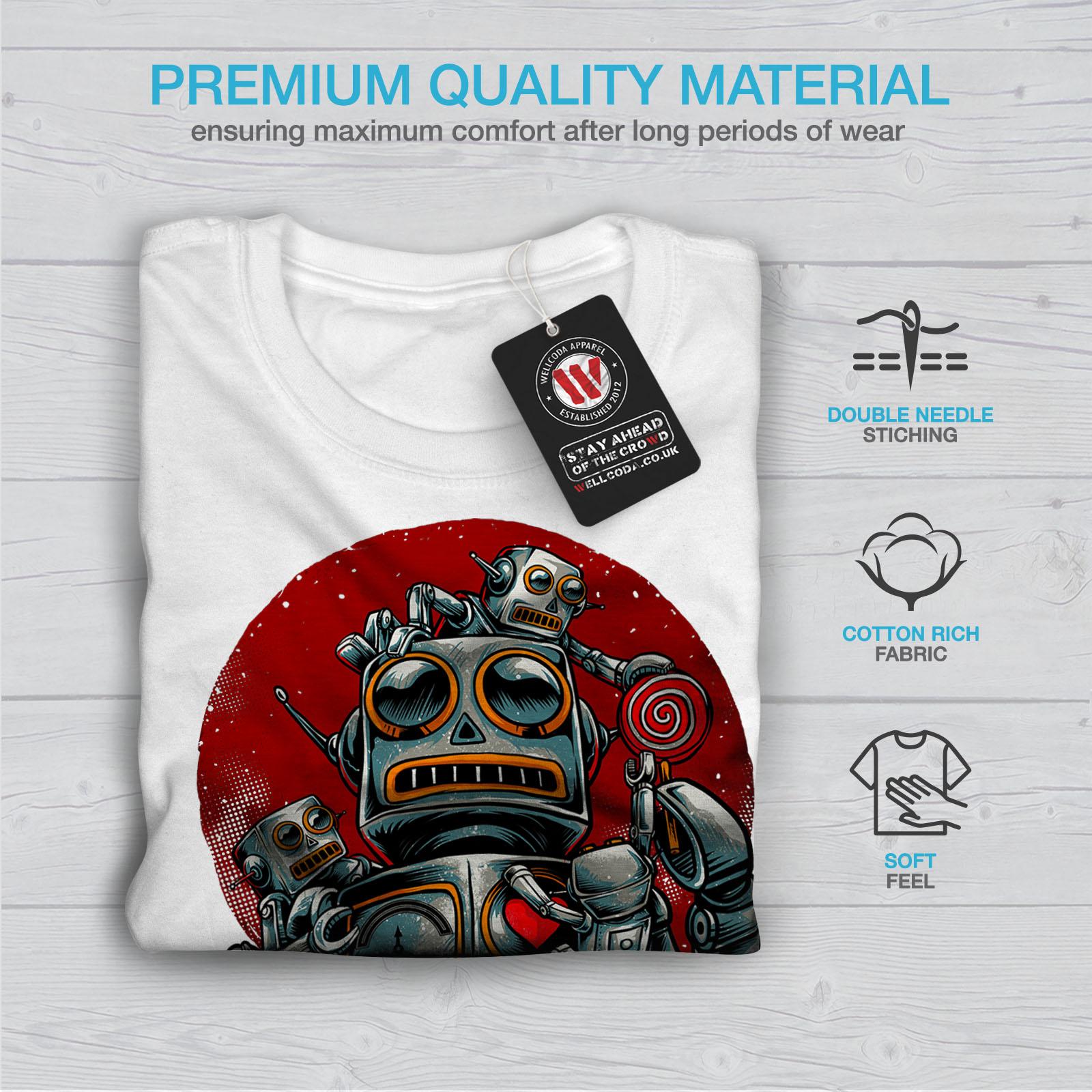 miniature 13 - Wellcoda Crazy Robot Mens T-shirt, Mechanical Graphic Design Printed Tee