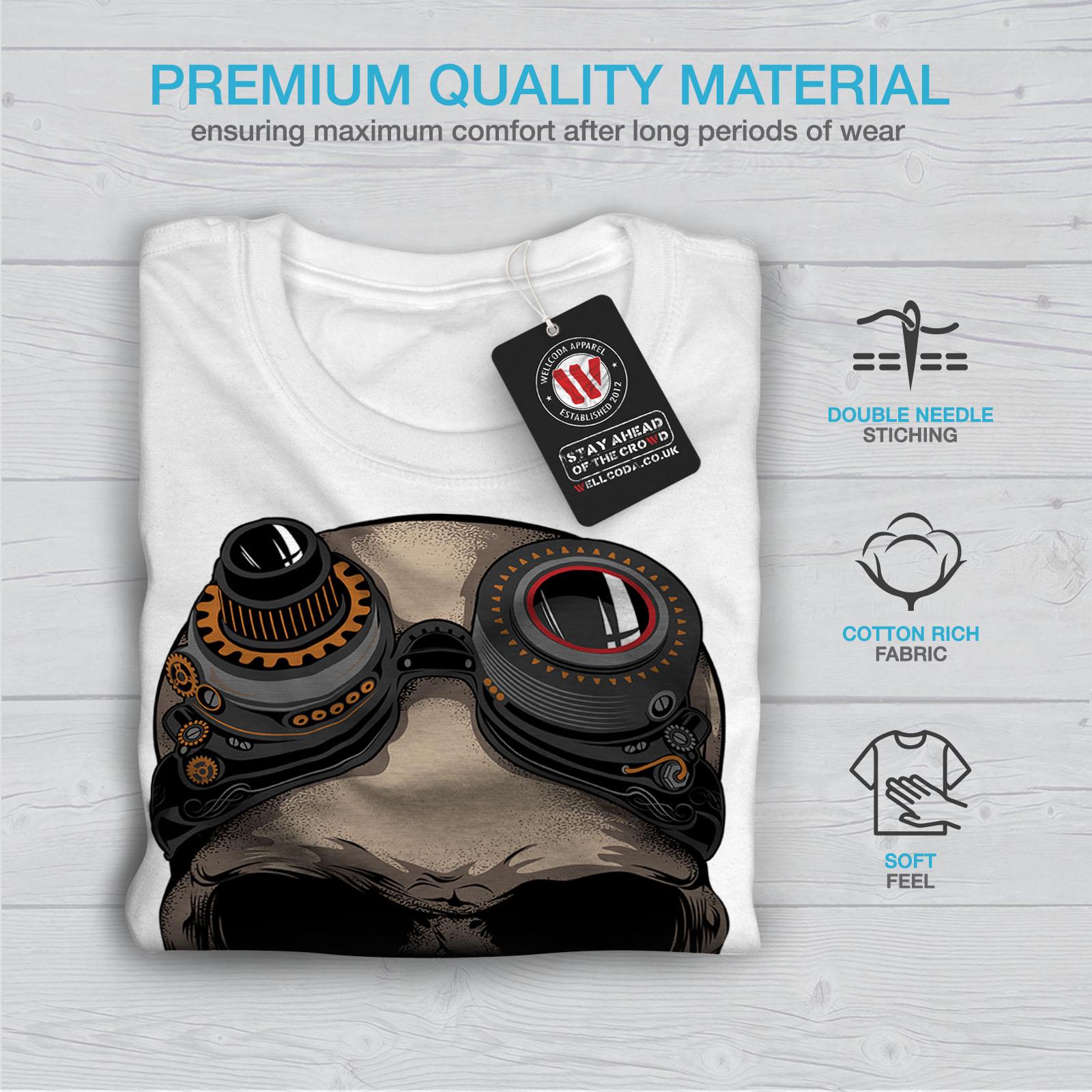0 Graphic Design Stampato Tee Wellcoda PILOTA VOLO Teschio Morto da Uomo T-shirt