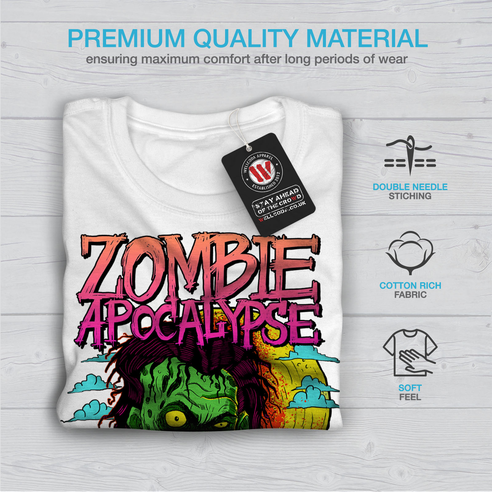 Wellcoda-Zombie-Apocalypse-Horror-Mens-T-shirt-Graphic-Design-Printed-Tee thumbnail 13
