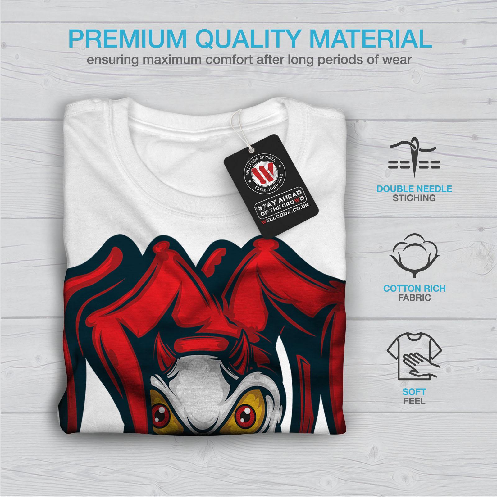 Graphic Design Printed Tee Wellcoda Clow Evil Scary Horror Mens T-shirt