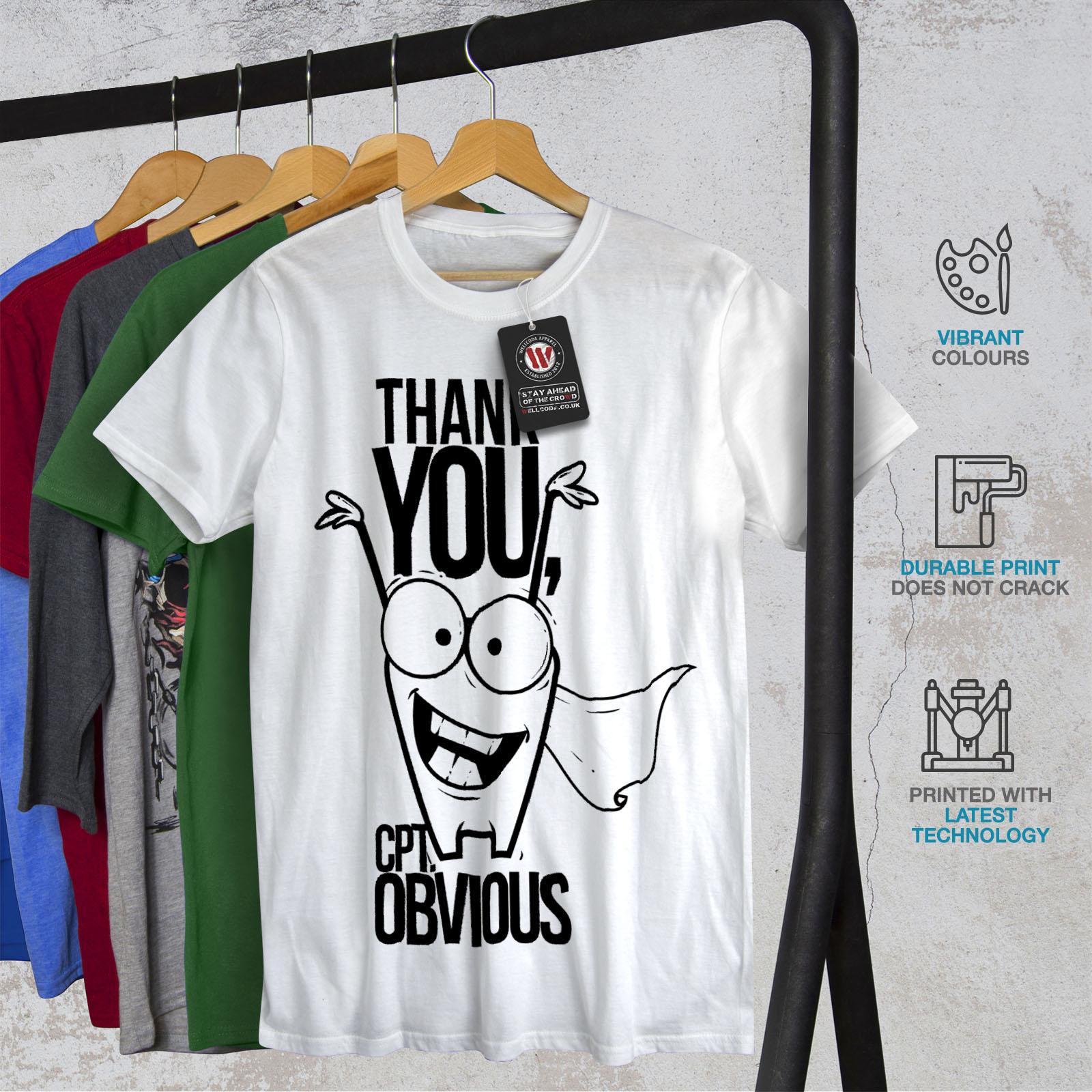 Captain Graphic Design Wellcoda Captain Obvious Funny Mens Long Sleeve T-shirt