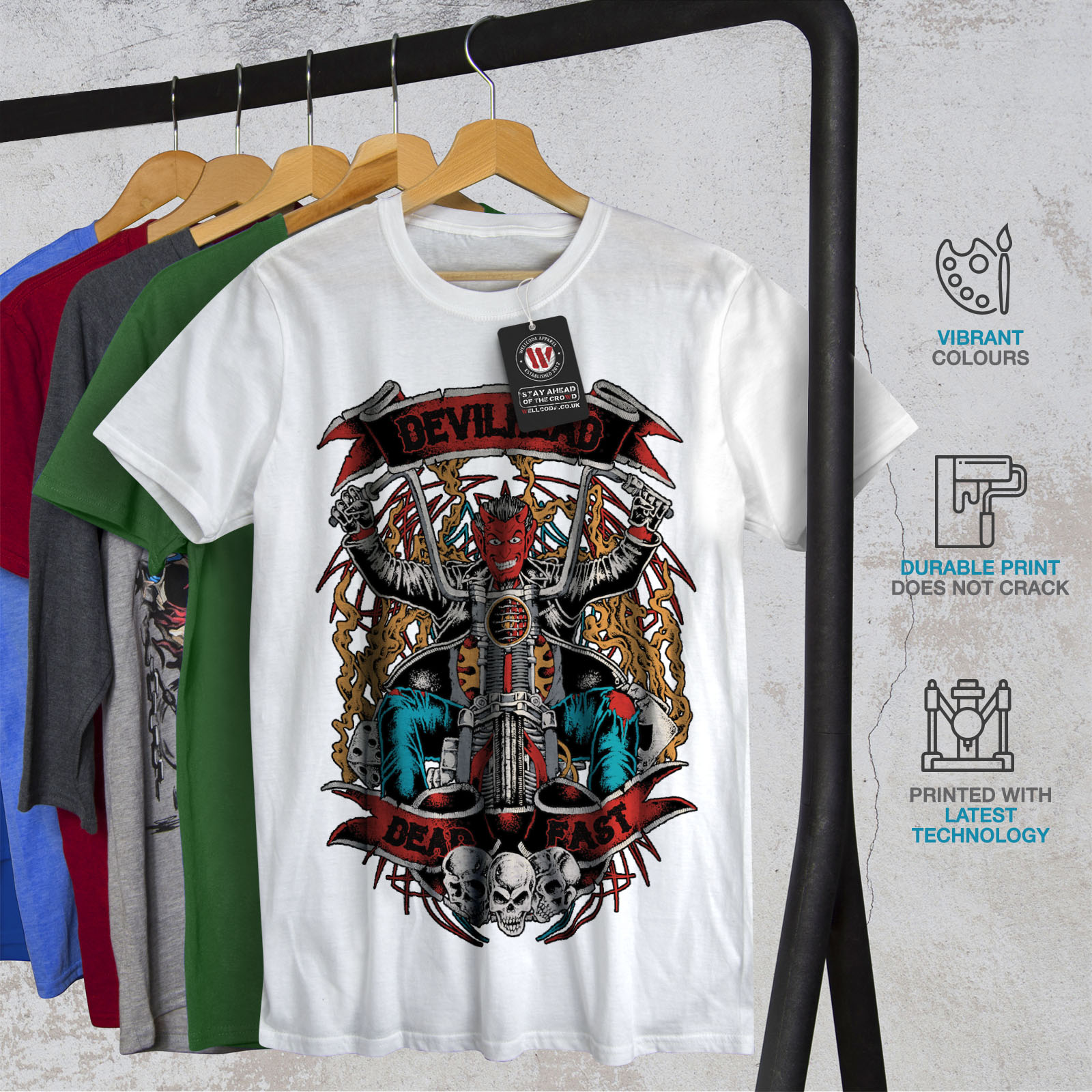 Wellcoda Gym diavolo satana horror Uomo T-shirt 0 Graphic Design Stampato Tee
