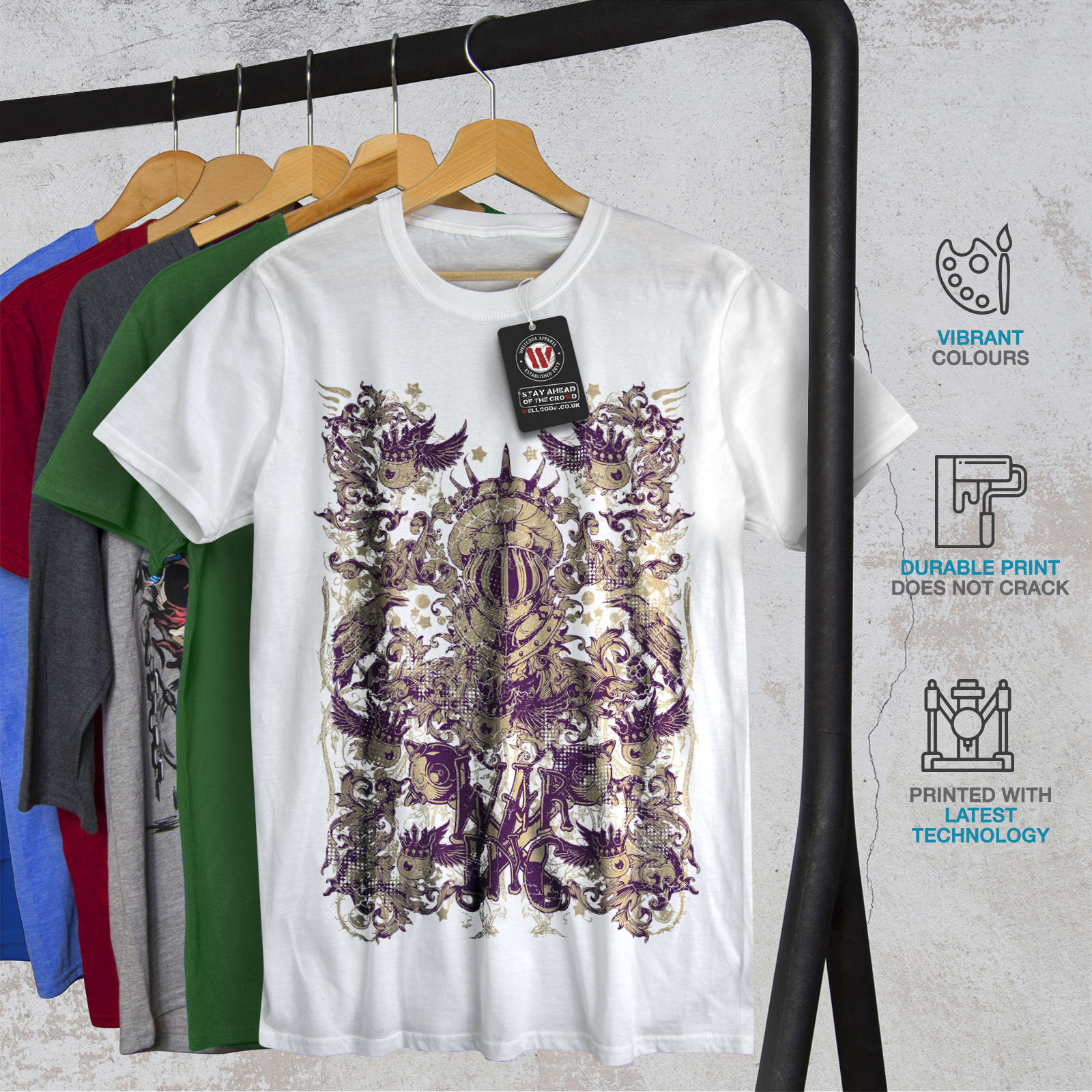 Wellcoda-War-Inc-Zombie-Mens-T-shirt-Monster-Graphic-Design-Printed-Tee thumbnail 12